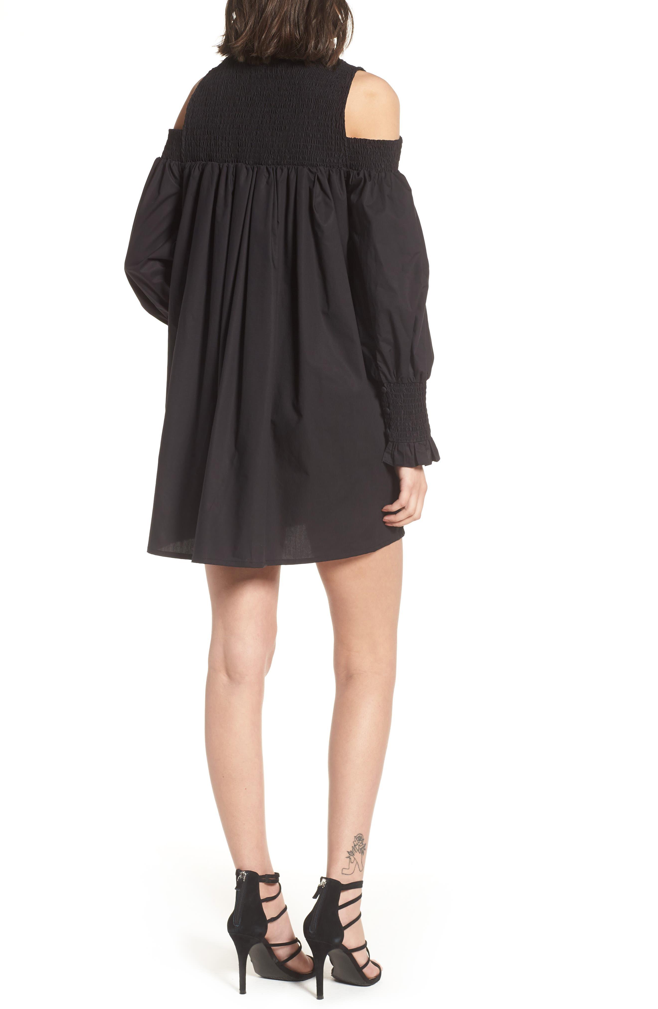 Ivy Cold Shoulder Dress,                             Alternate thumbnail 2, color,                             001