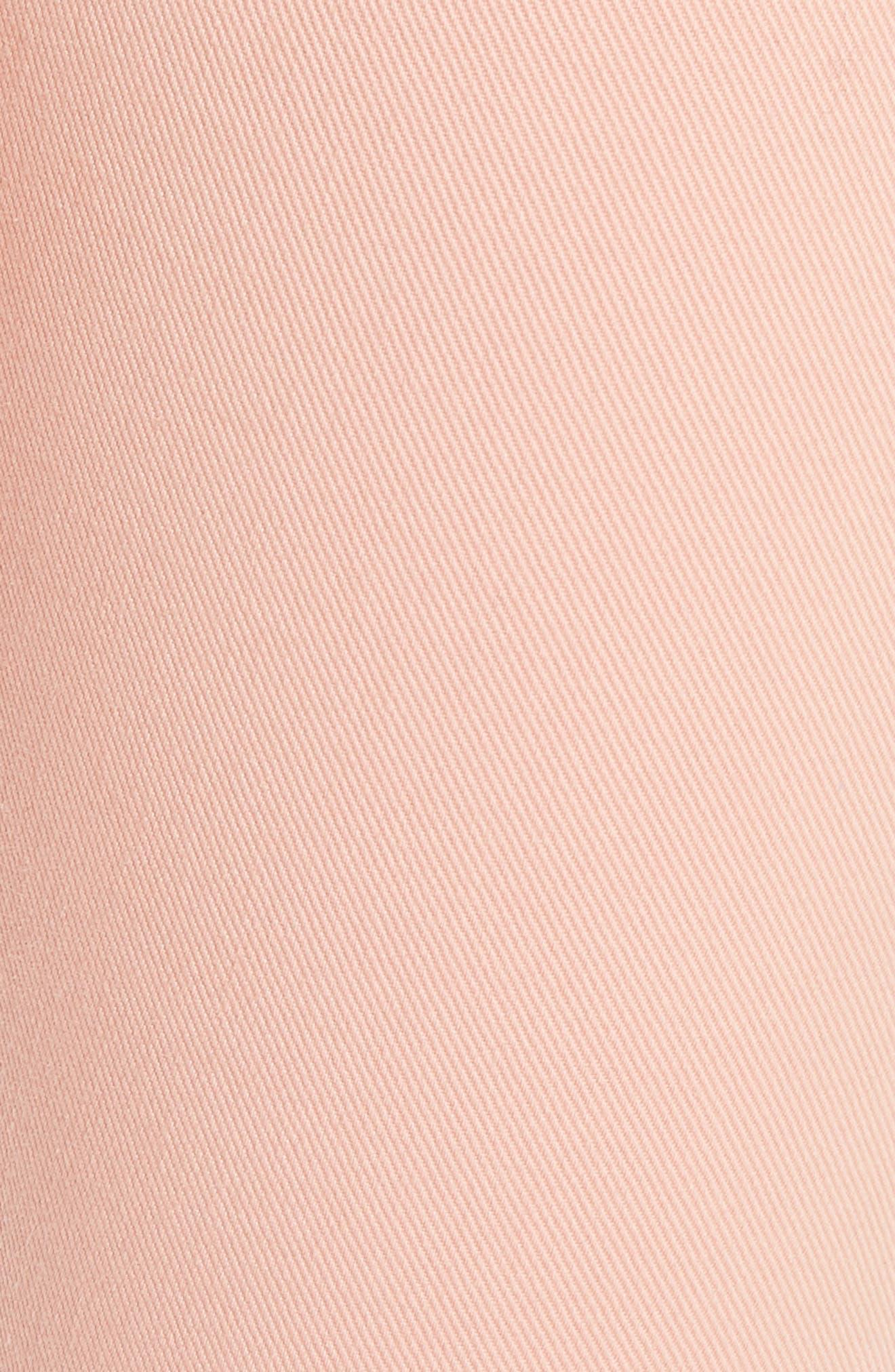 High Waist Skinny Jeans,                             Alternate thumbnail 5, color,                             PEACH/ LILAC