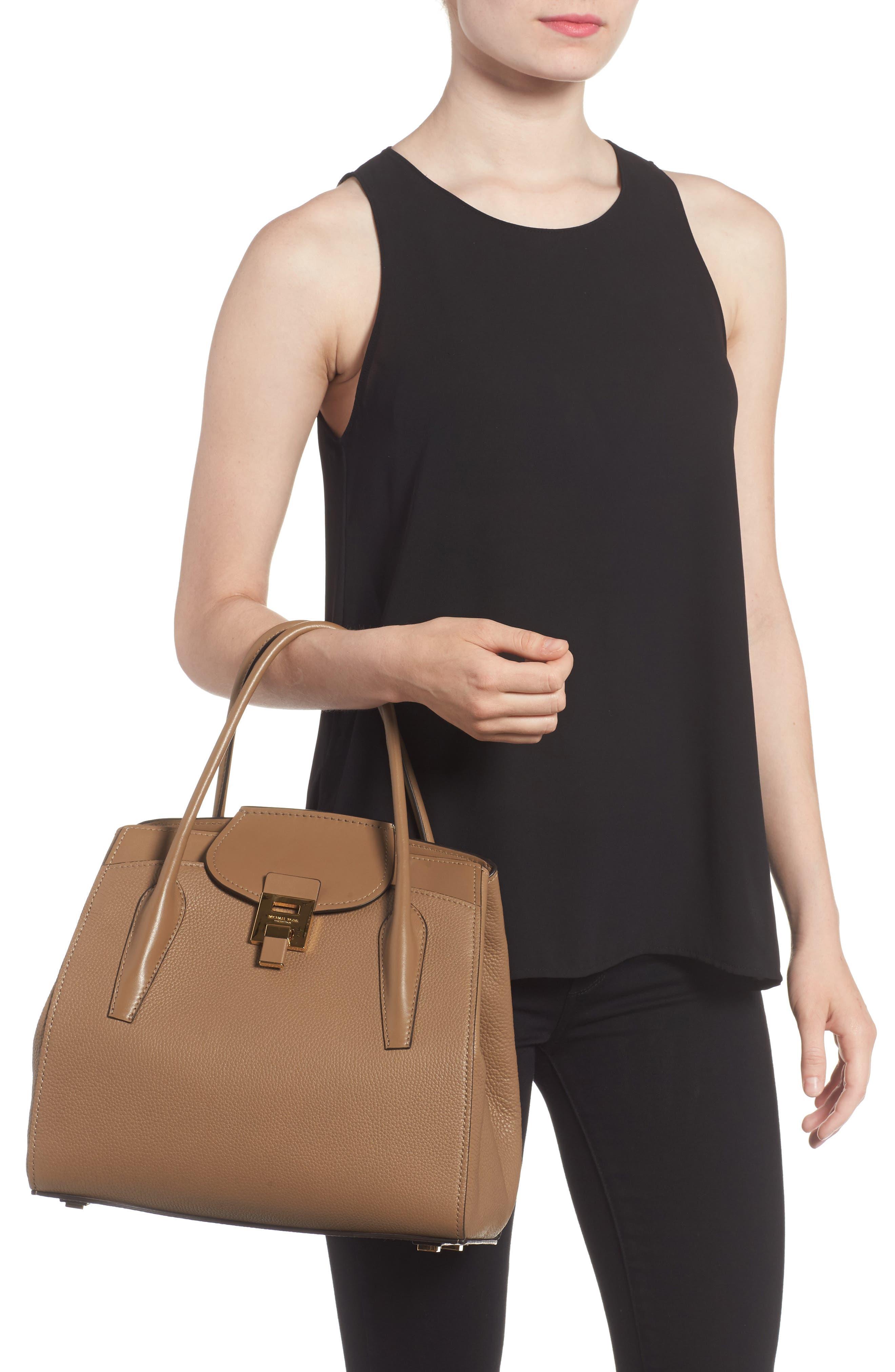 Large Bancroft Leather Top Handle Satchel,                             Alternate thumbnail 5, color,