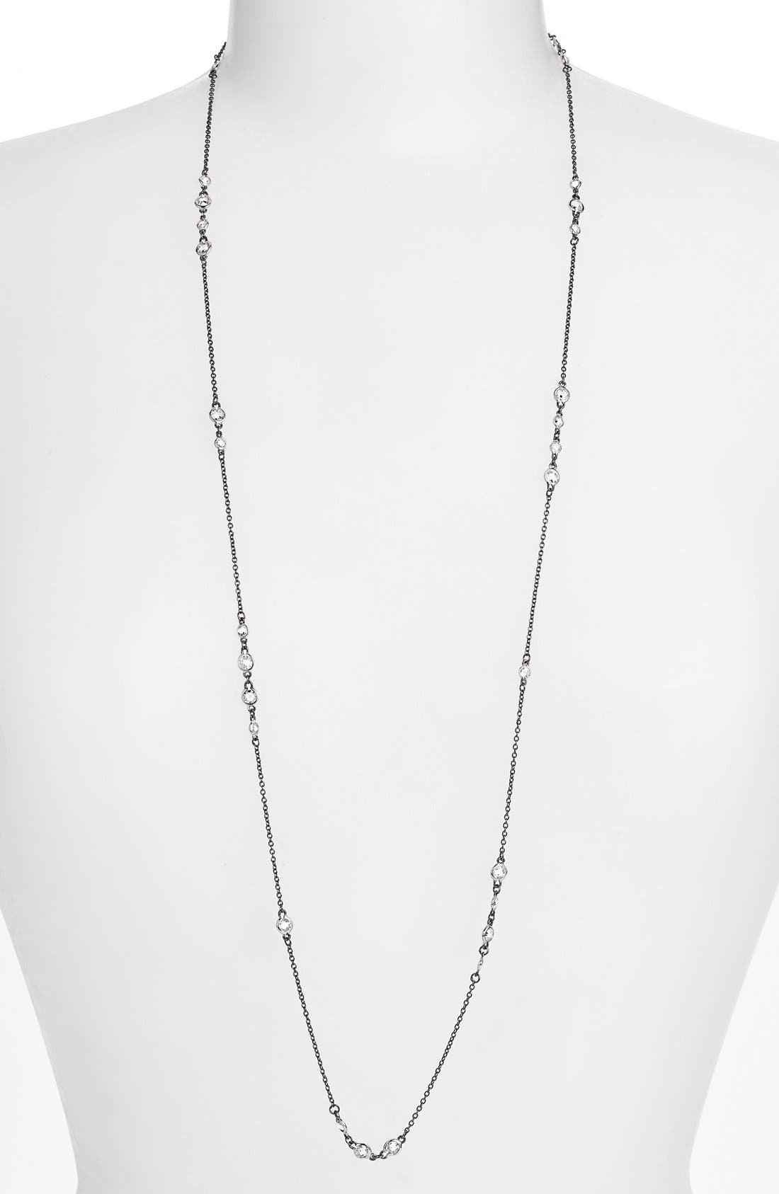 'The Standards' Long Station Necklace,                         Main,                         color, SILVER/ BLACK
