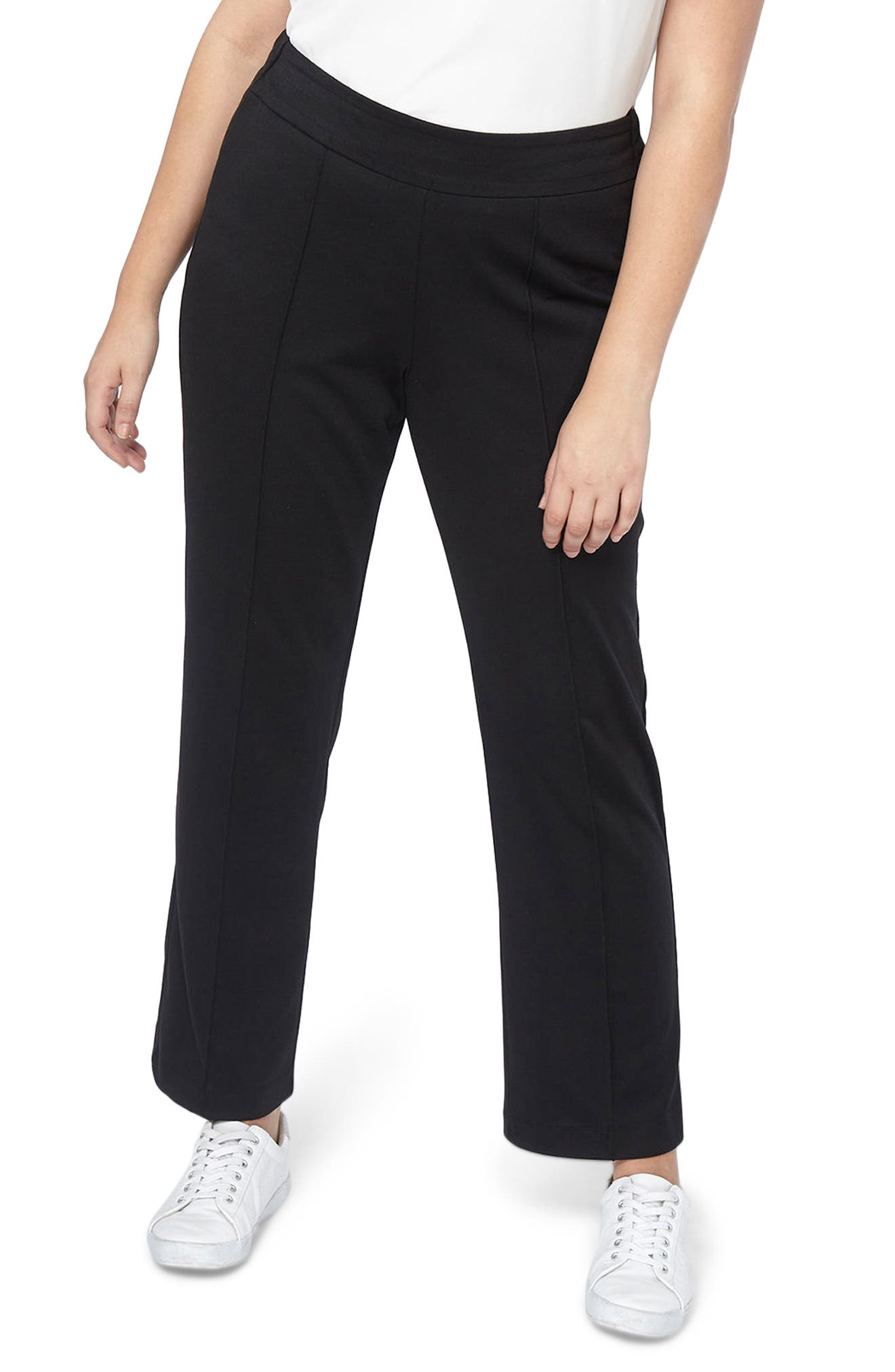 Ponte Slim Leg Trousers,                         Main,                         color, 001