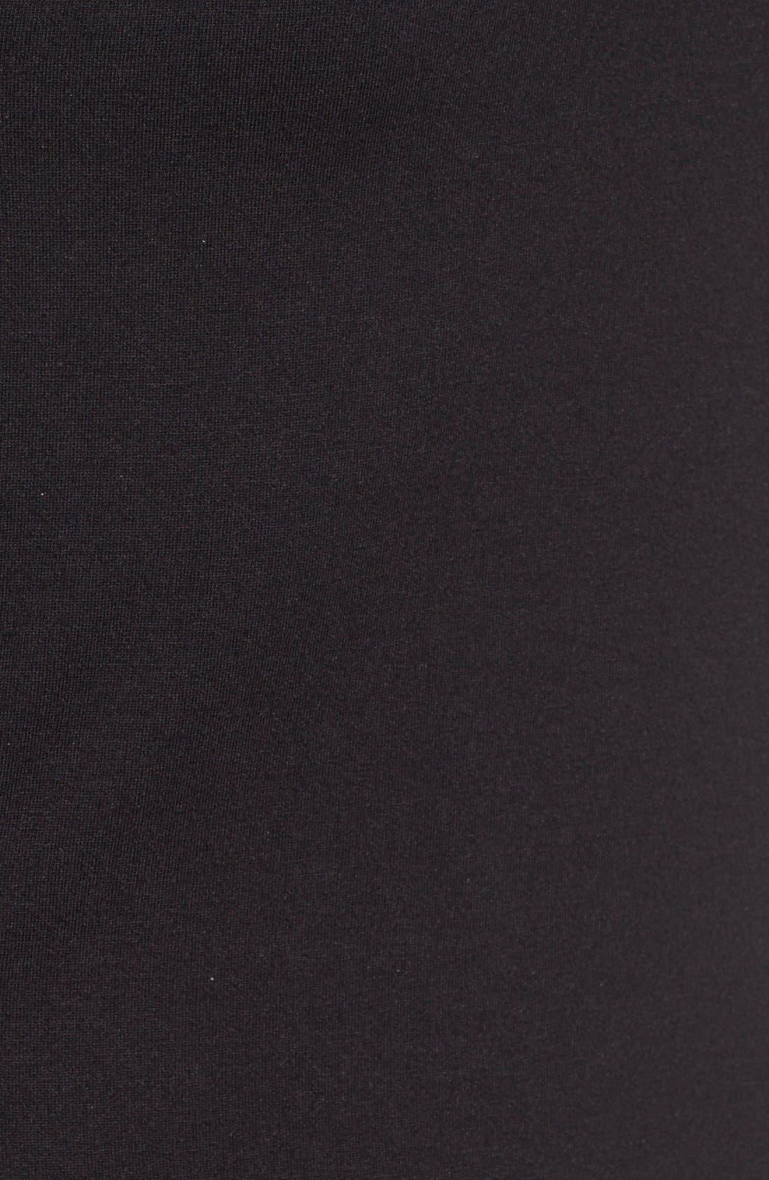 'Elena' Roll Tab Sleeve Top,                             Alternate thumbnail 5, color,                             BLACK