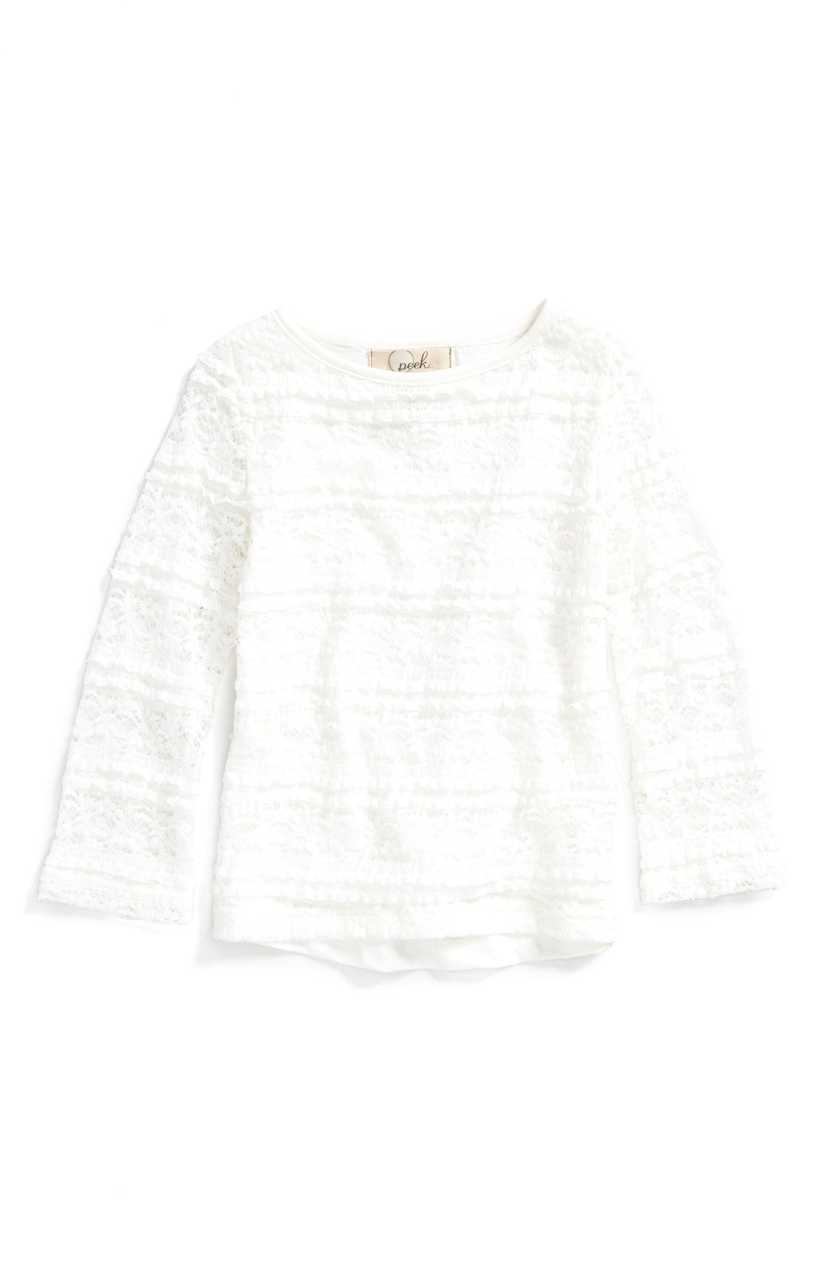 Dylan Lace Tee,                             Main thumbnail 1, color,