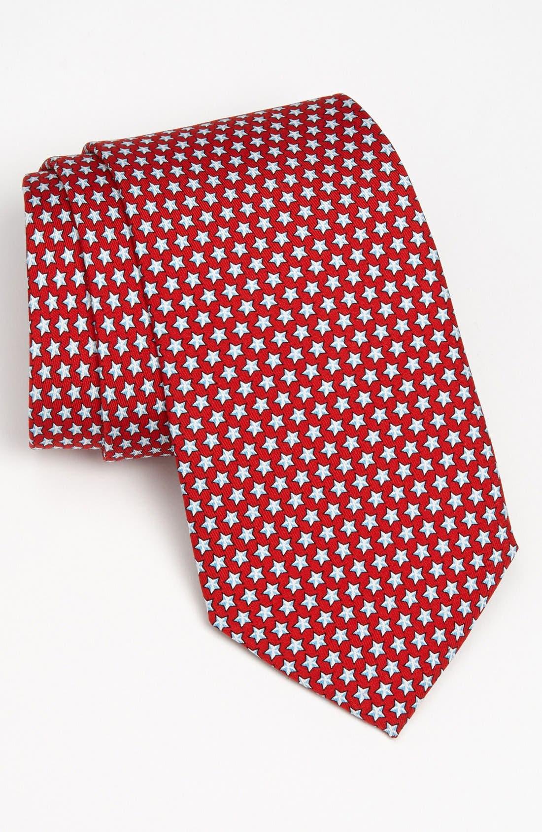 Stars Silk Tie,                         Main,                         color, 614