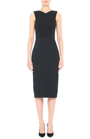 Pinstripe Stretch Dress, video thumbnail