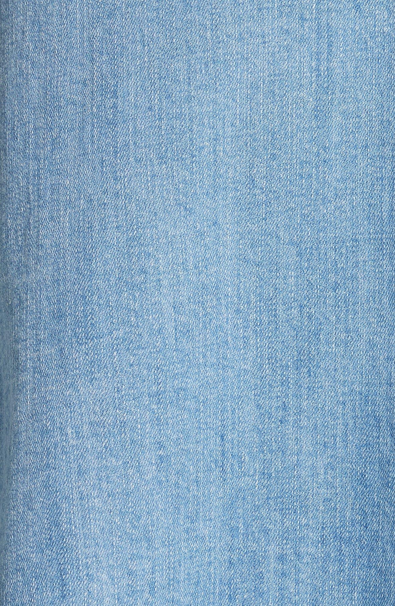 vintage stretch denim wrap skirt,                             Alternate thumbnail 5, color,                             429