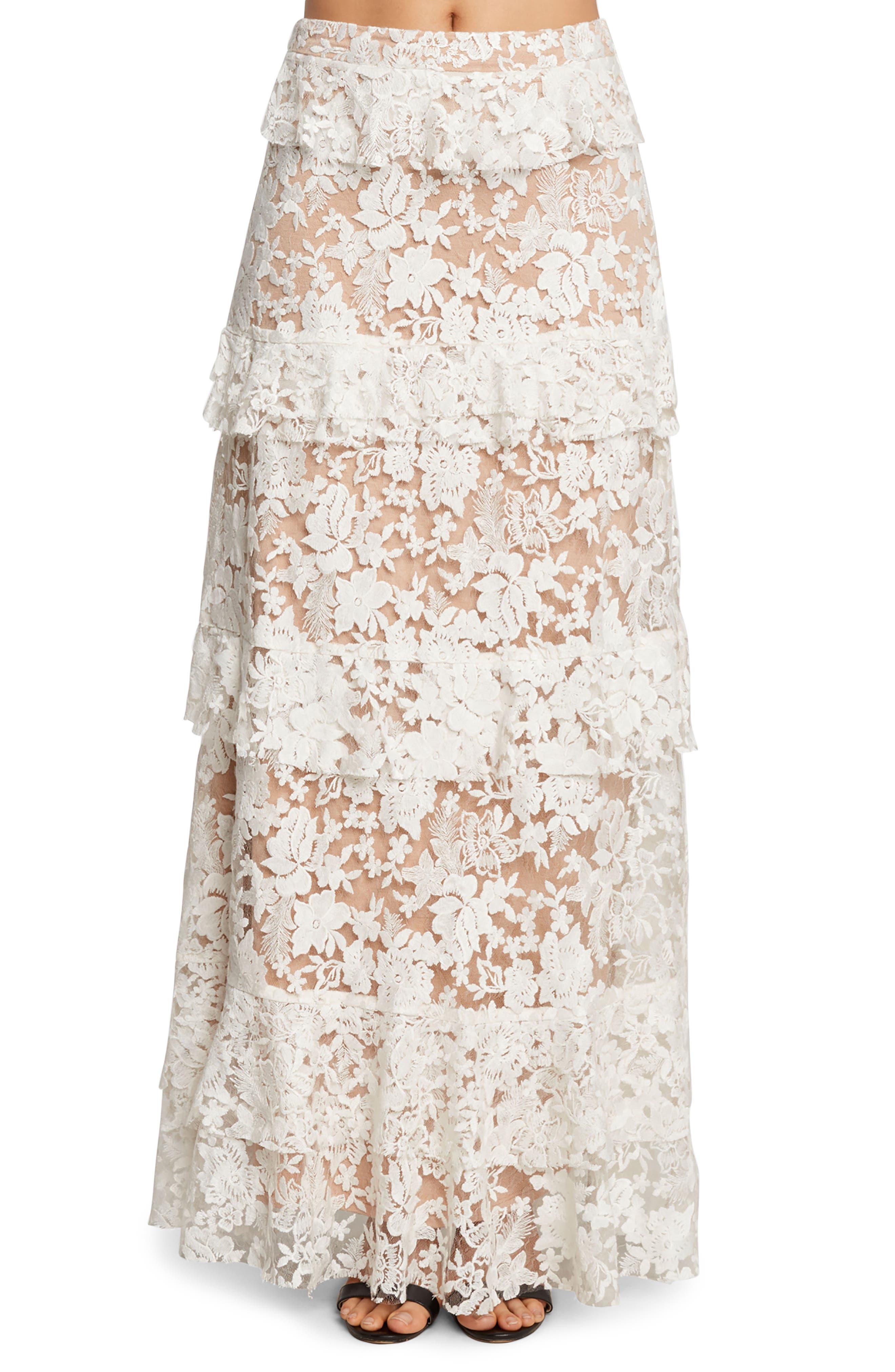 Ruffle Maxi Skirt,                         Main,                         color,