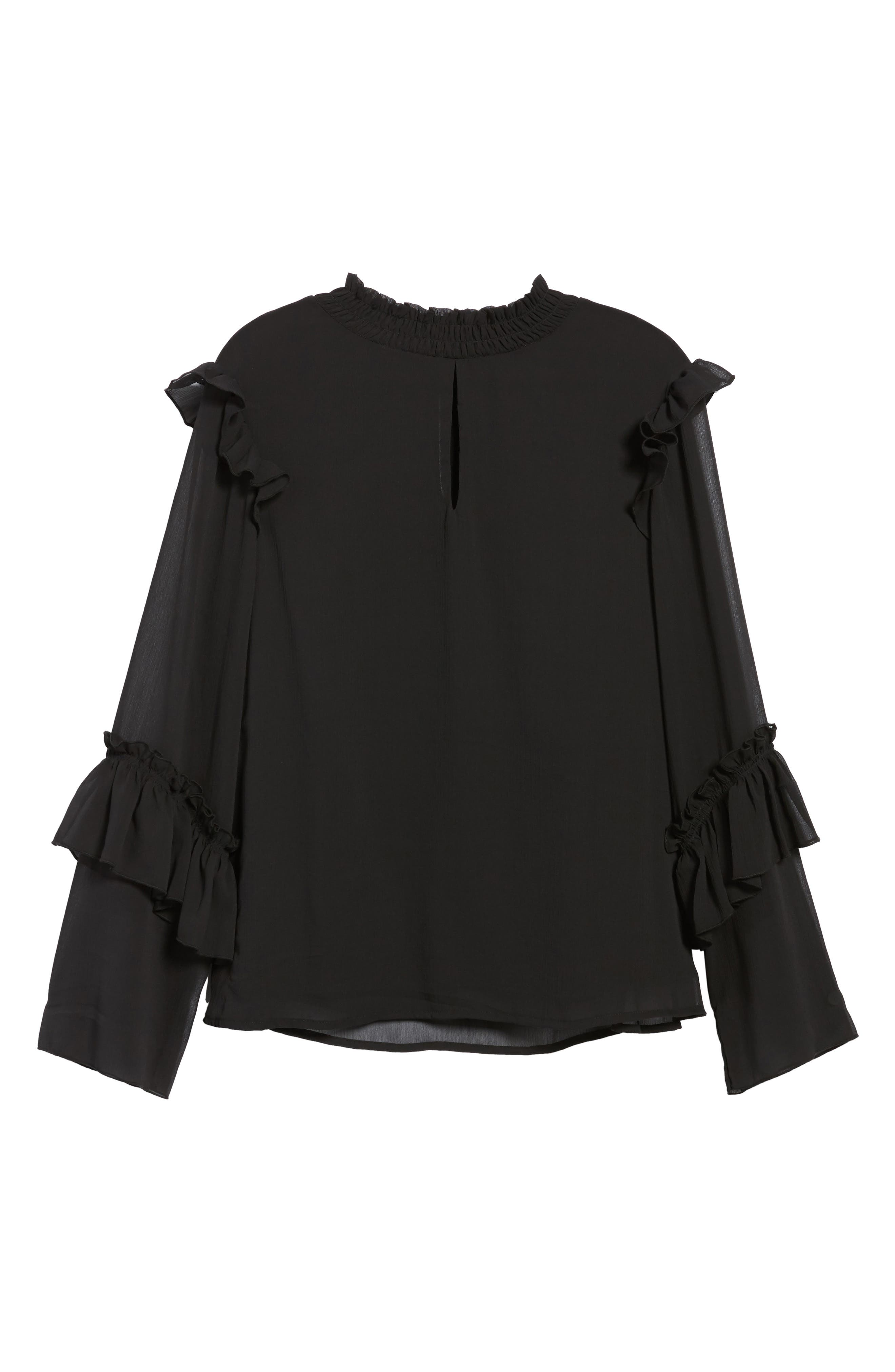 Ruffle Sleeve Blouse,                             Alternate thumbnail 11, color,