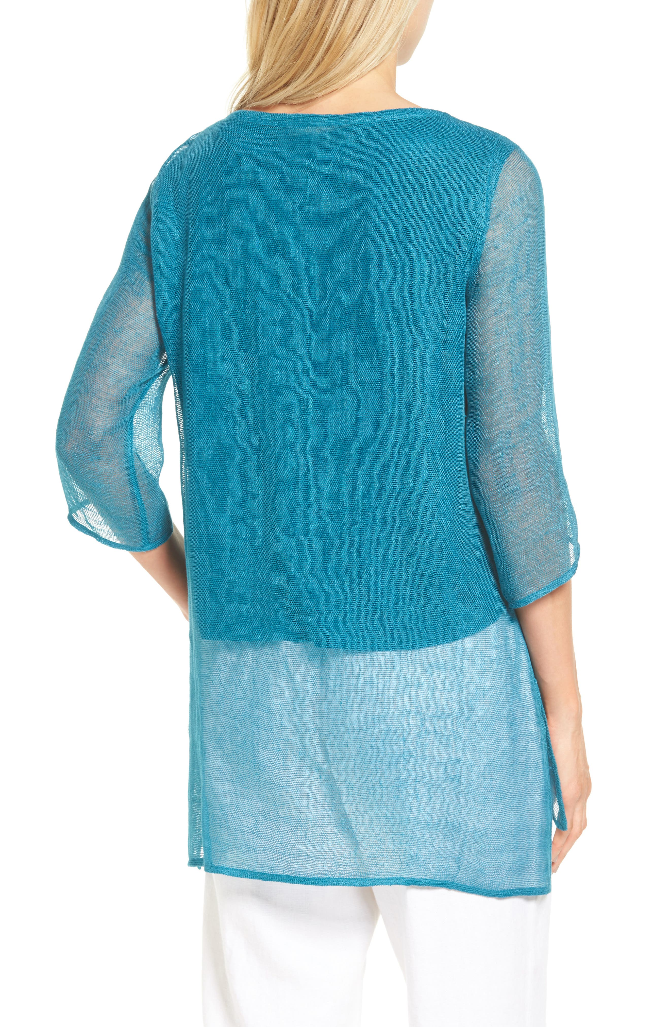 Organic Linen Blend Tunic,                             Alternate thumbnail 9, color,