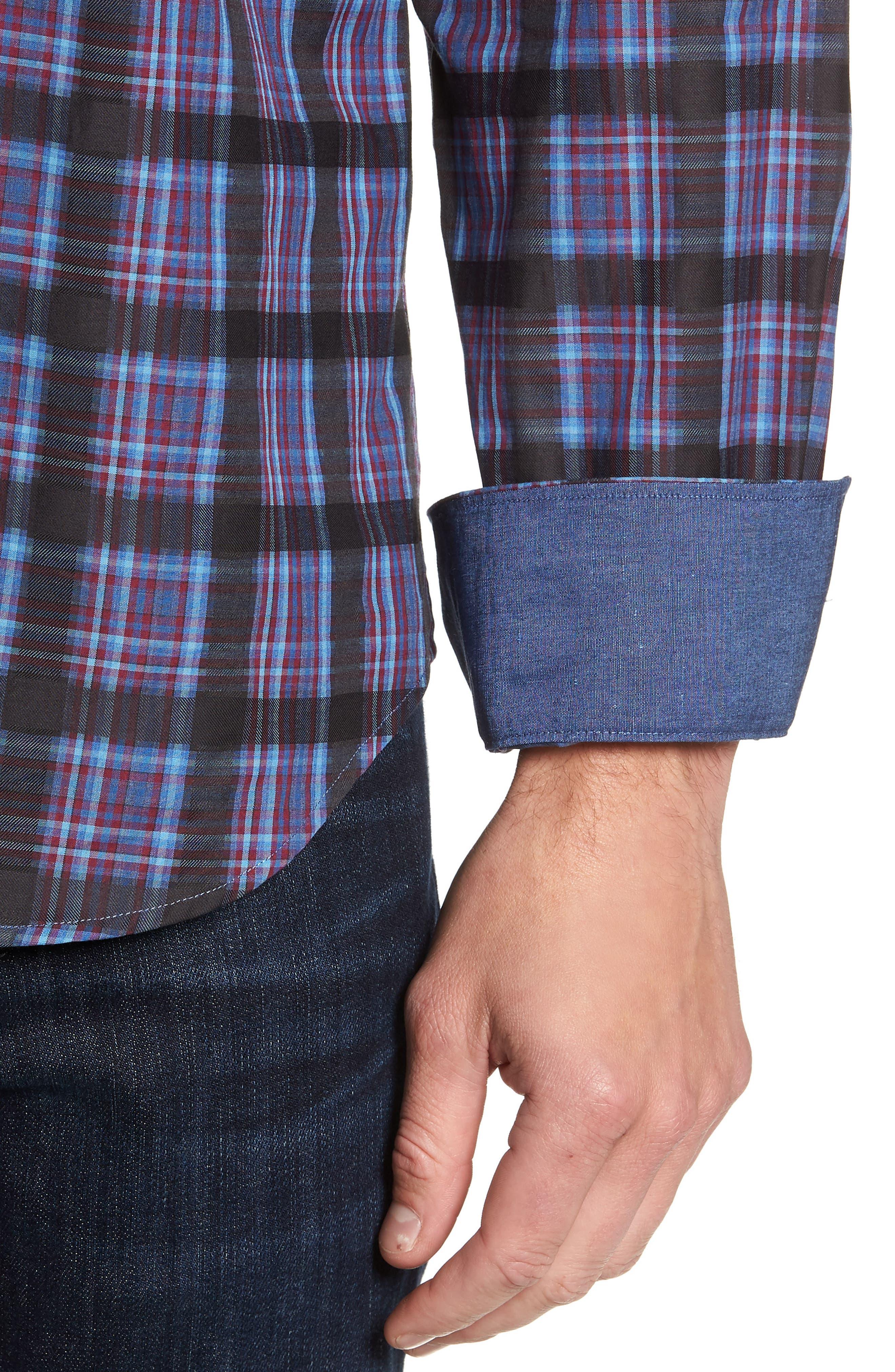 Regular Fit Plaid Sport Shirt,                             Alternate thumbnail 2, color,                             400