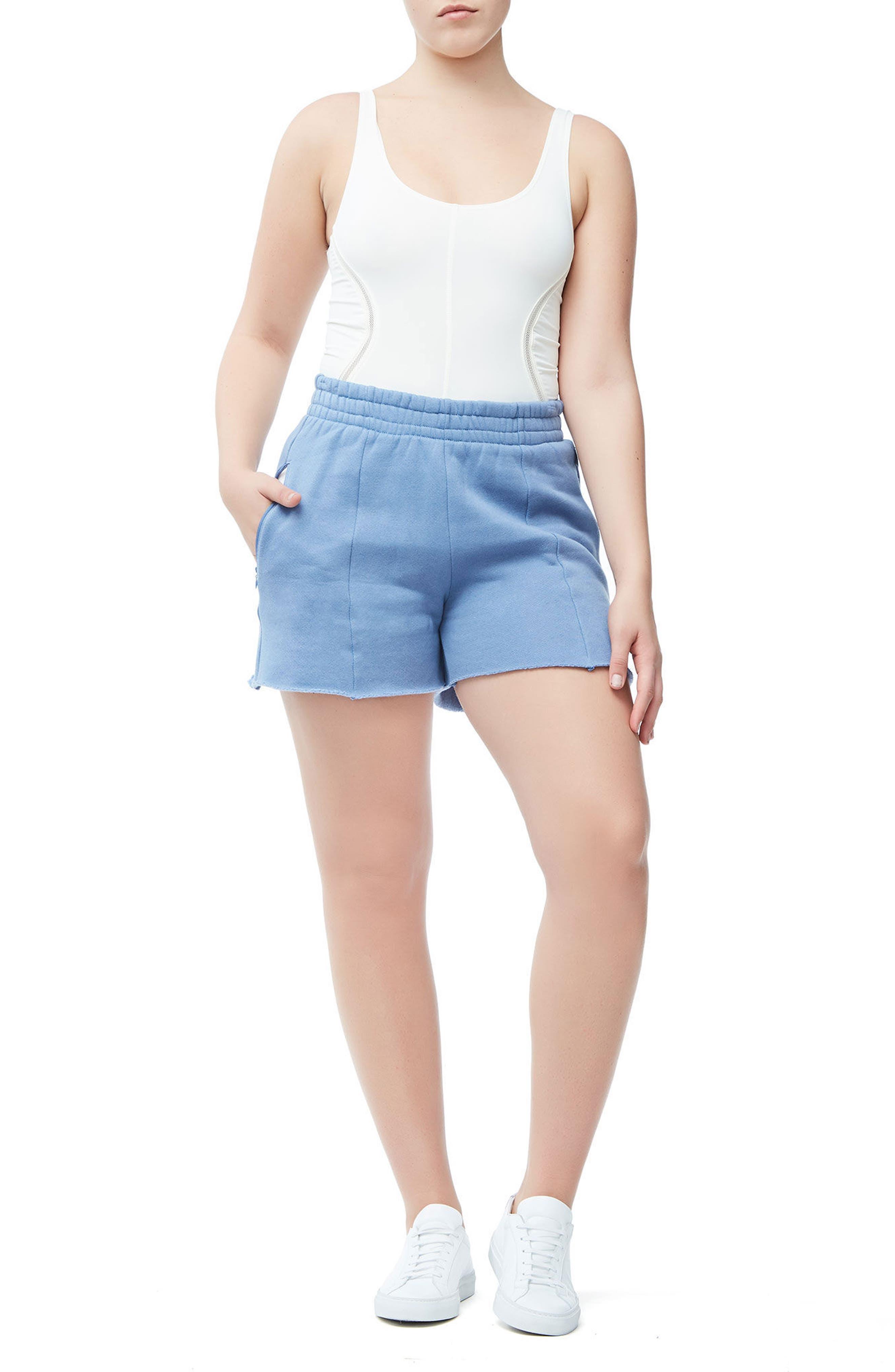 Wide Leg Sweat Shorts,                             Alternate thumbnail 4, color,                             401