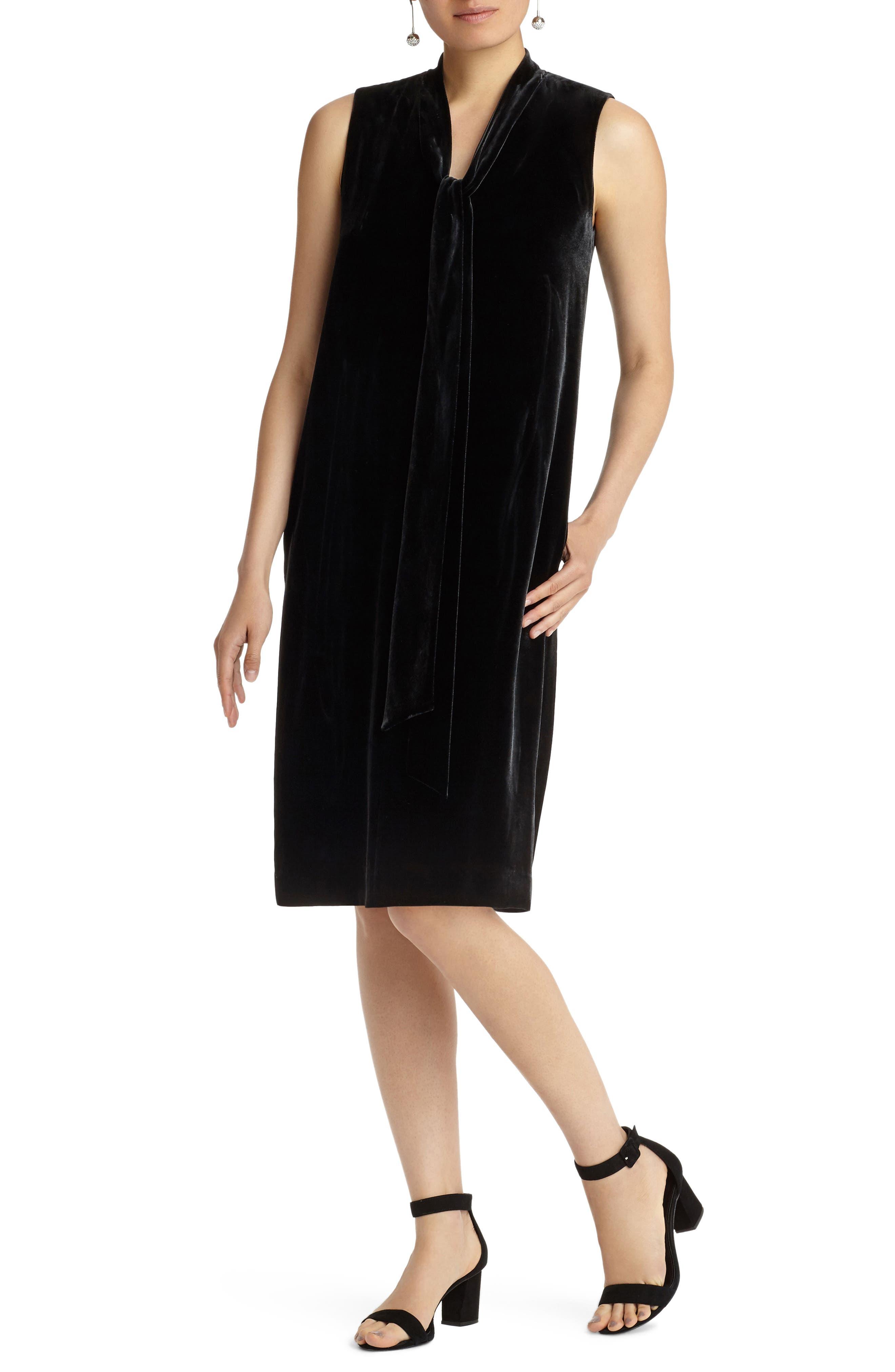 Ronan Velvet Dress,                             Main thumbnail 1, color,