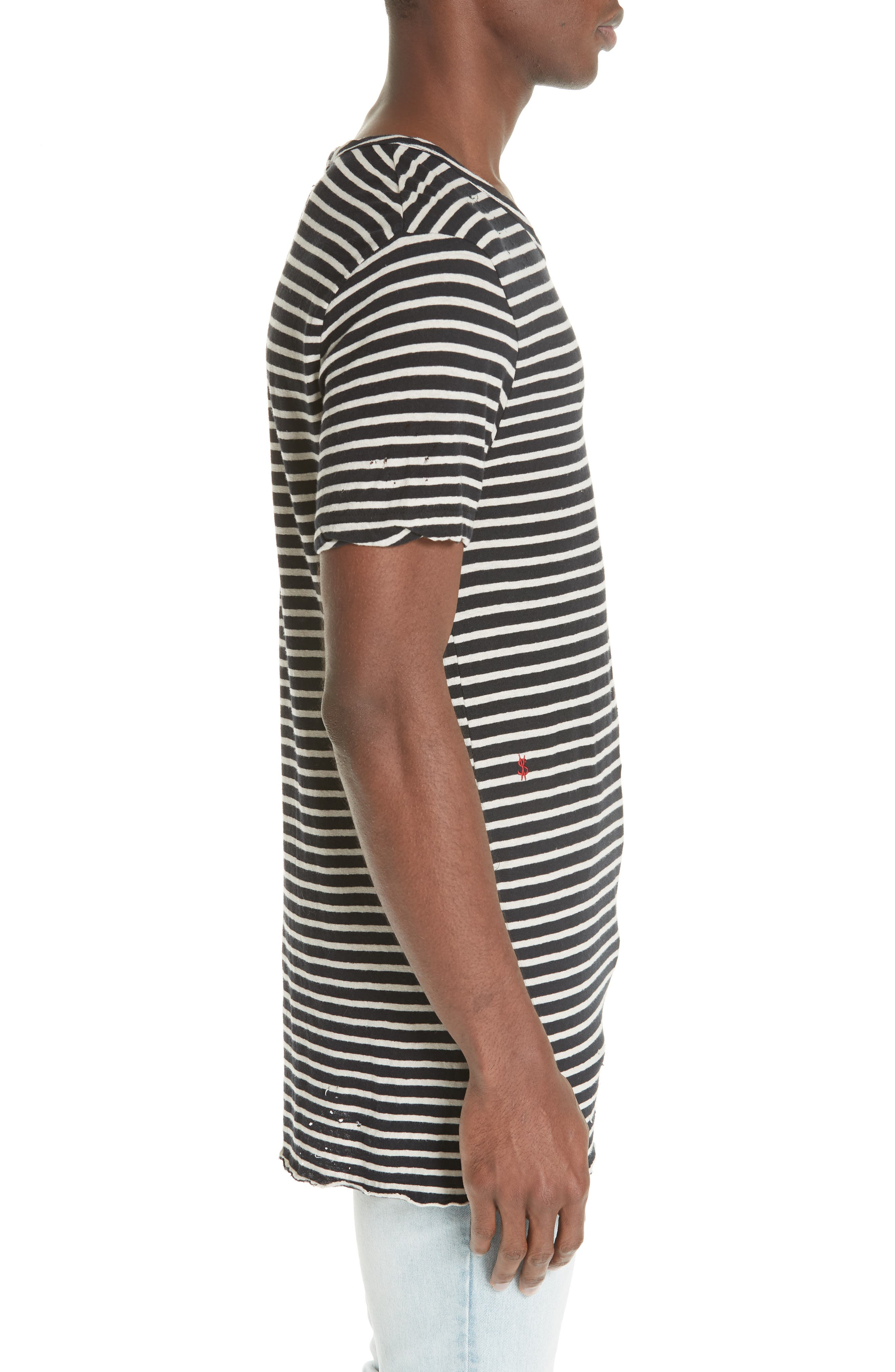 Sinister Distressed Stripe T-Shirt,                             Alternate thumbnail 3, color,                             960