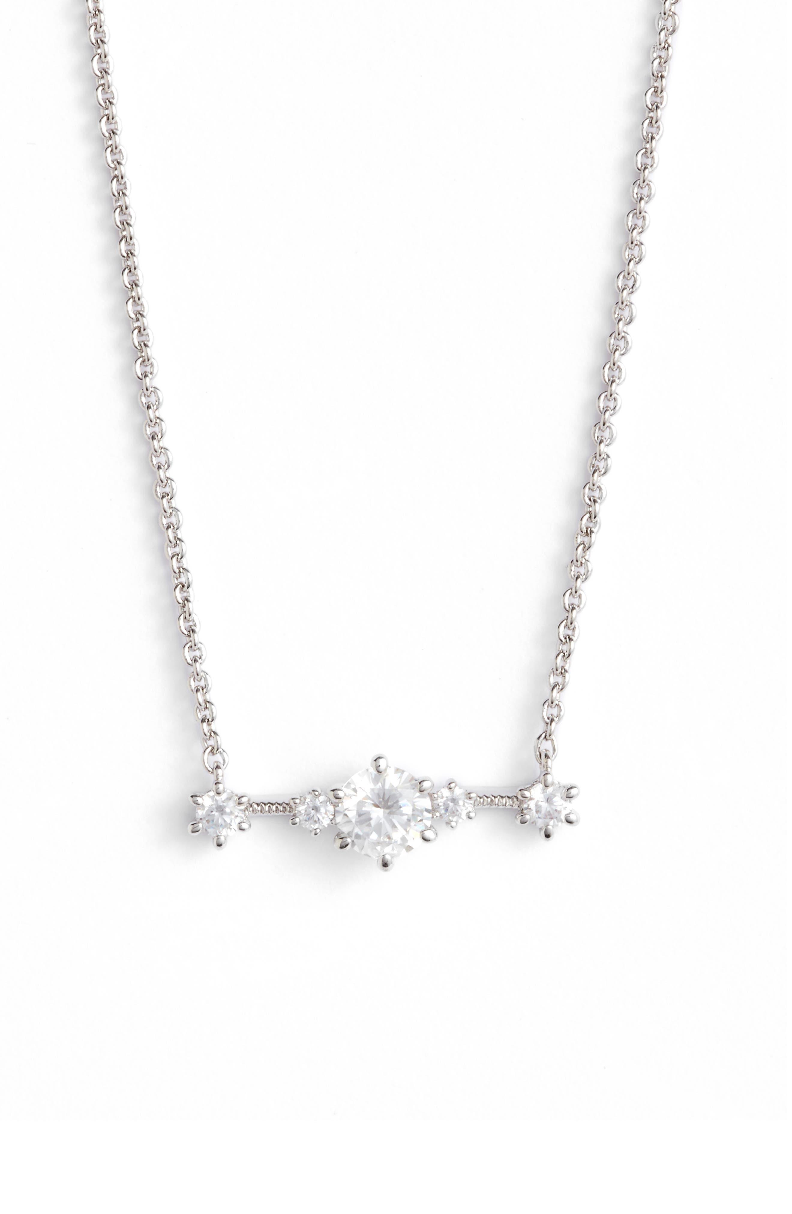Edwardian Crystal Bar Necklace,                         Main,                         color, 040