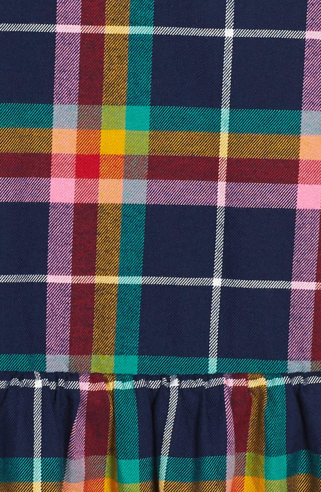 Plaid Pinafore Dress,                             Alternate thumbnail 3, color,                             414