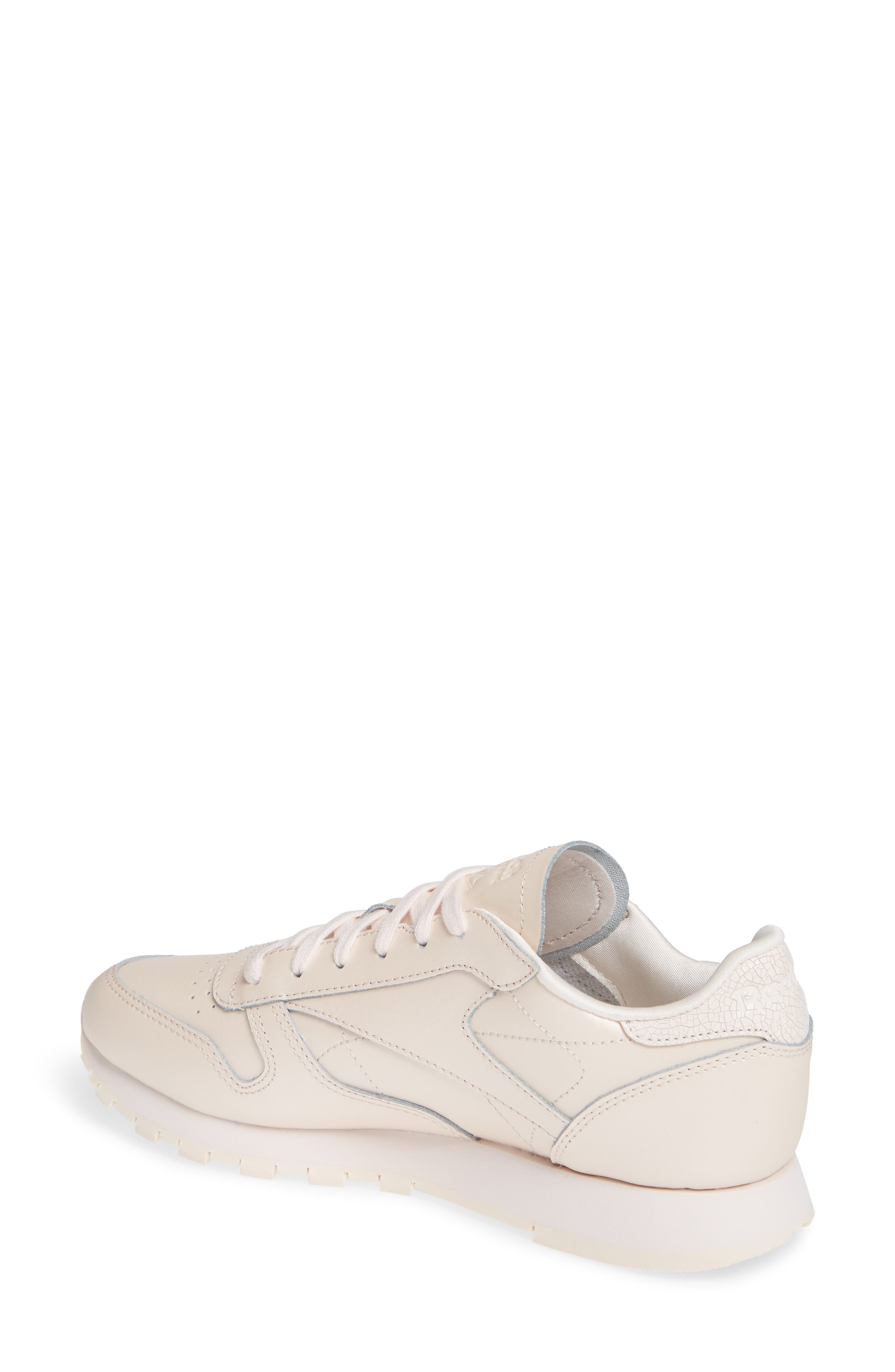 Classic Leather Sneaker,                             Alternate thumbnail 2, color,                             PALE PINK