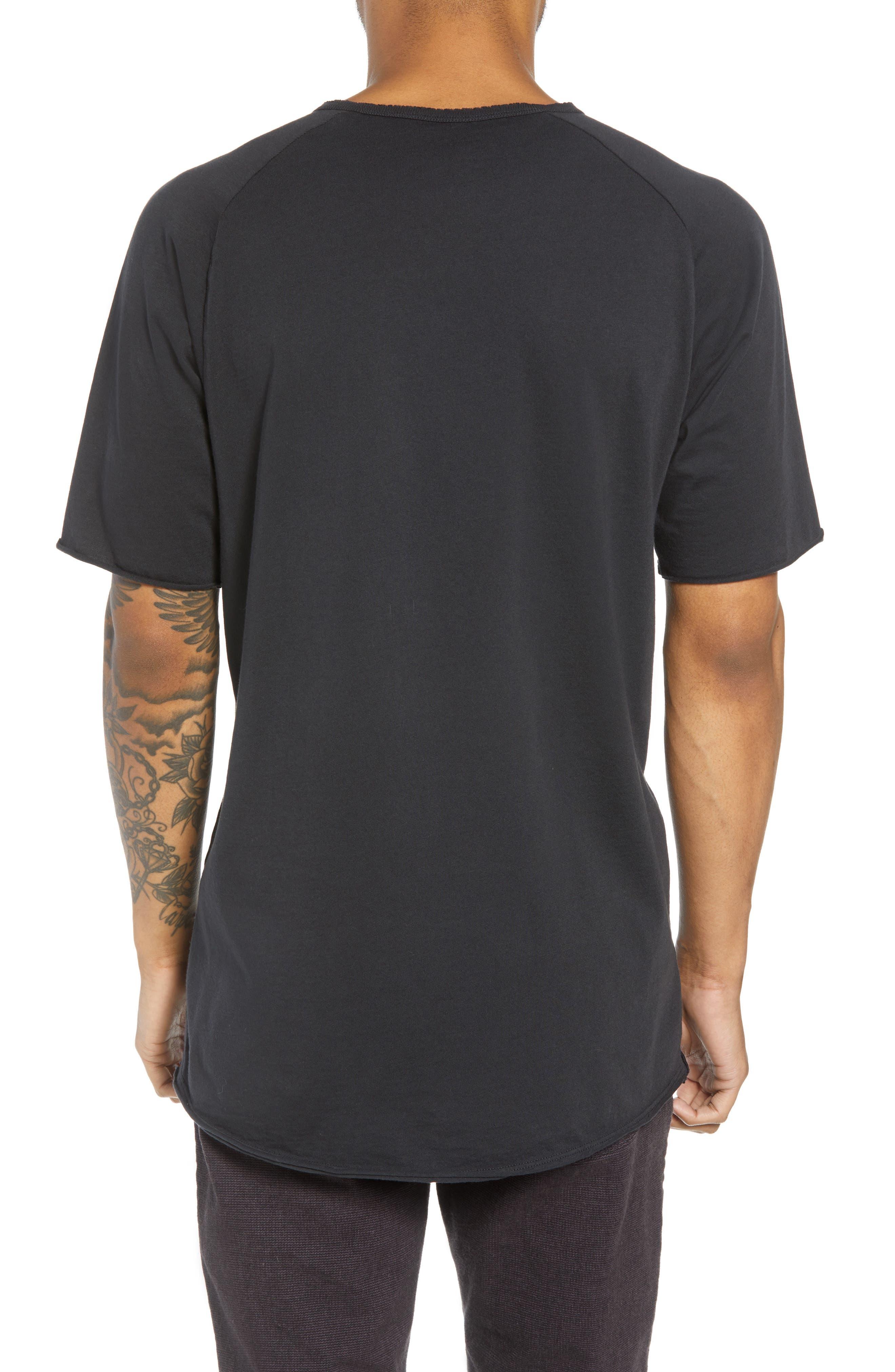 Regular Fit Elongated T-Shirt,                             Alternate thumbnail 2, color,                             BLACK