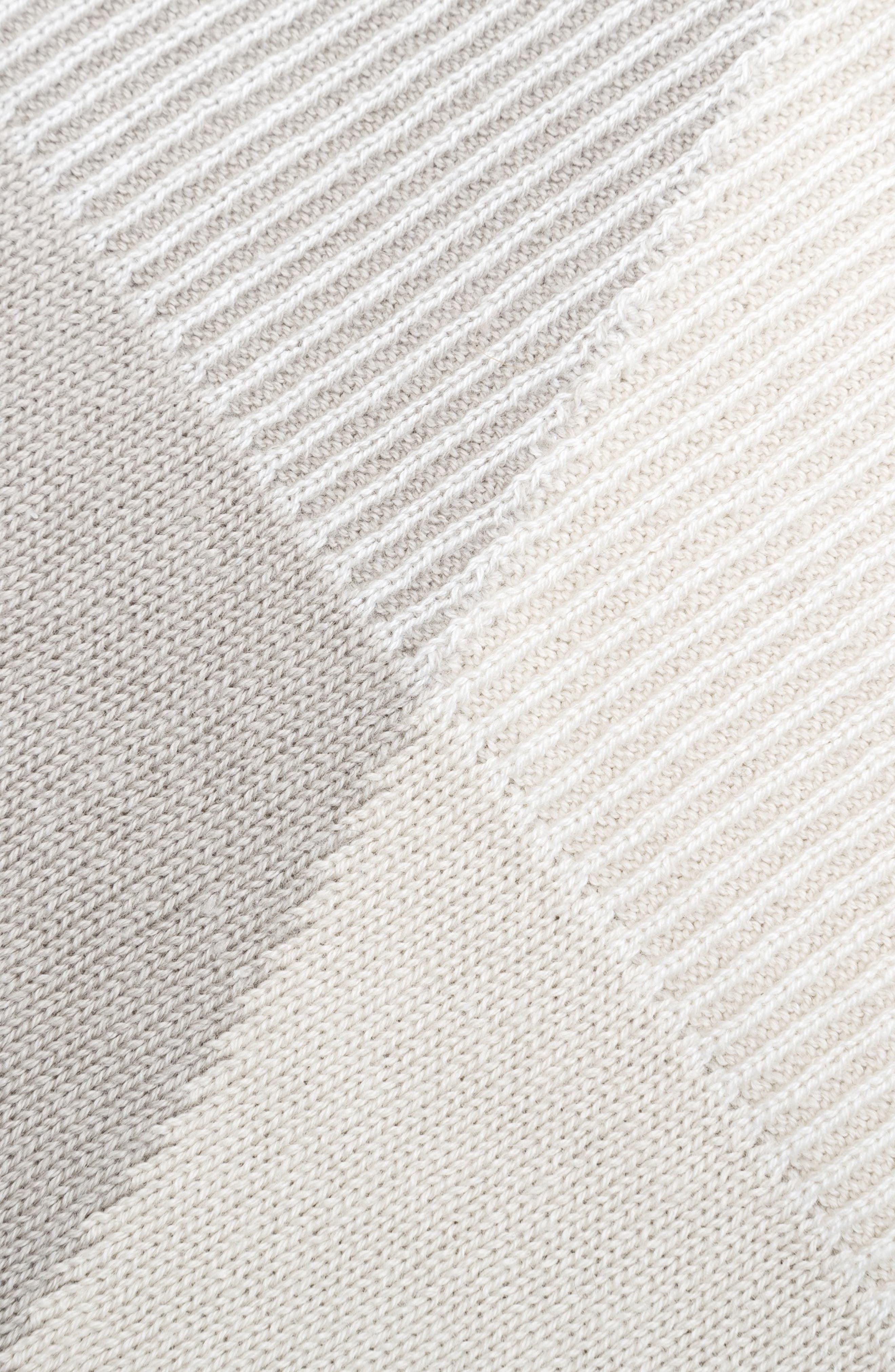 Organic Cotton Knit Blanket,                             Alternate thumbnail 2, color,                             BEIGE