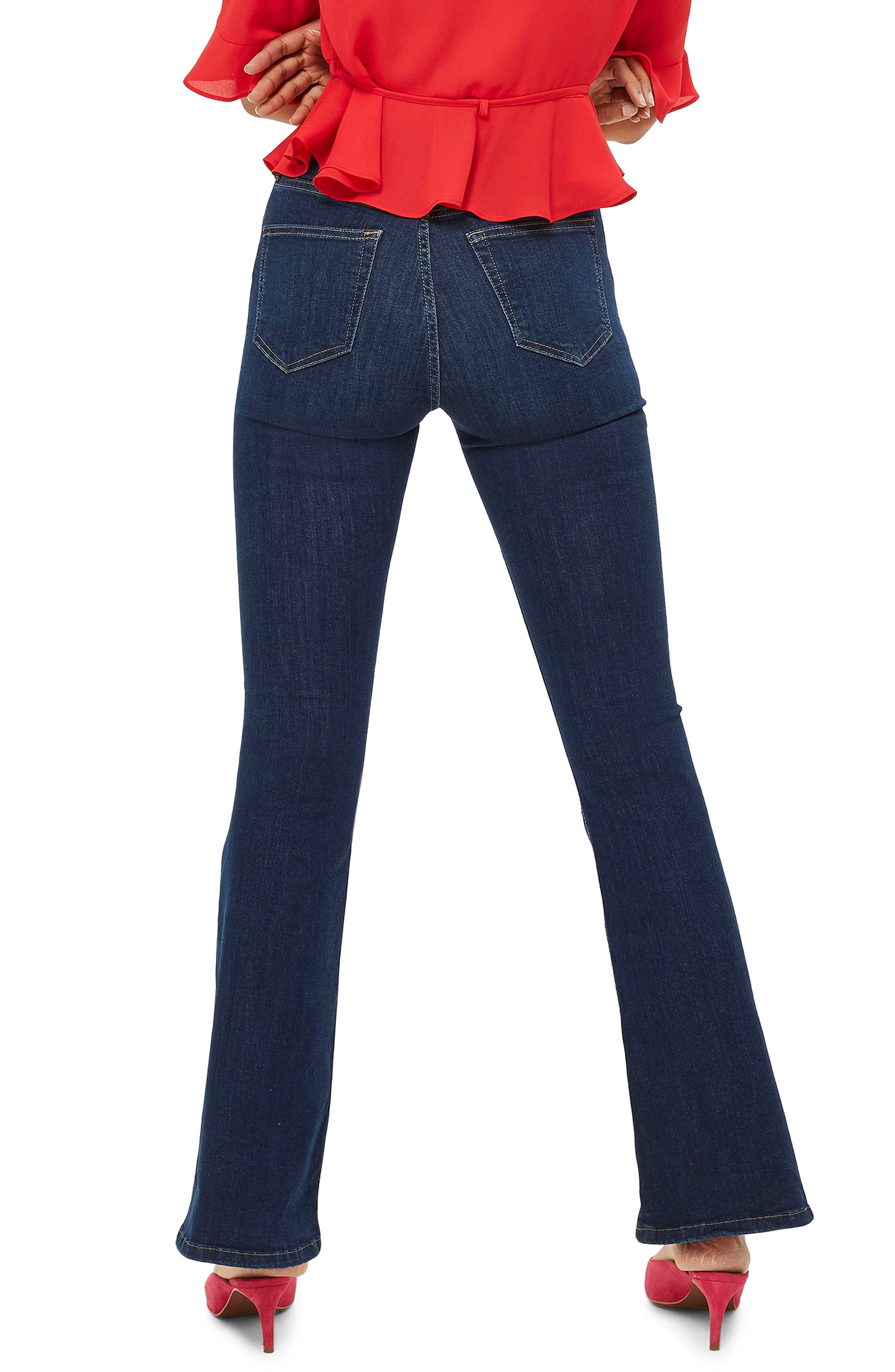 Jamie Petite Flared Jeans,                             Alternate thumbnail 2, color,                             MID DENIM