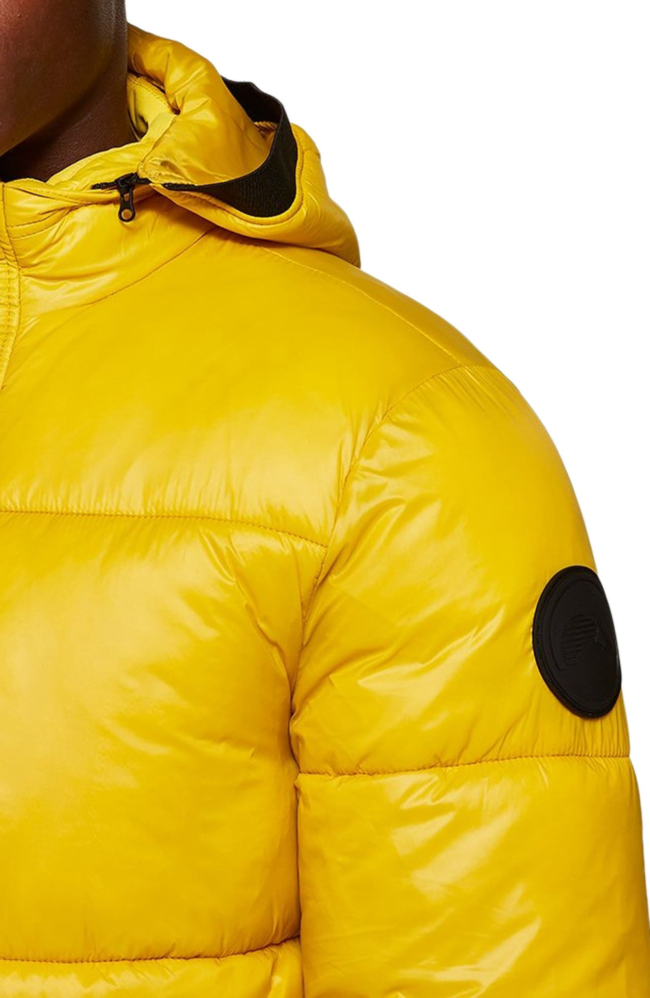 Capi Classic Fit Puffer Jacket,                             Alternate thumbnail 4, color,                             YELLOW