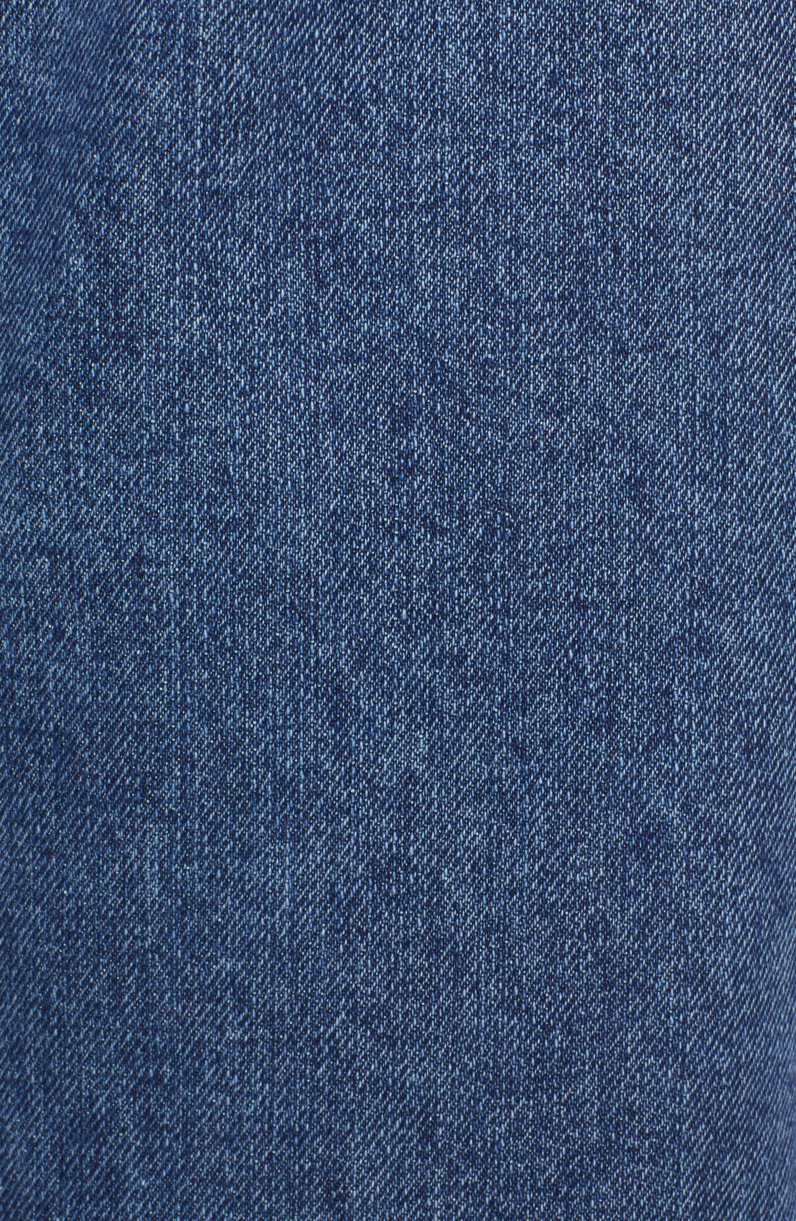 High Waist Straight Leg Crop Jeans,                             Alternate thumbnail 6, color,                             401