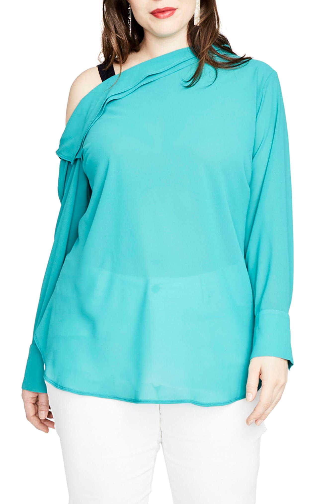 One-Shoulder Top,                         Main,                         color,