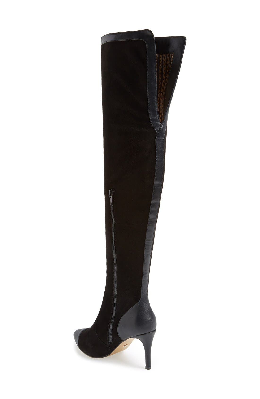 'Allure' Over The Knee Boot,                             Alternate thumbnail 2, color,                             001