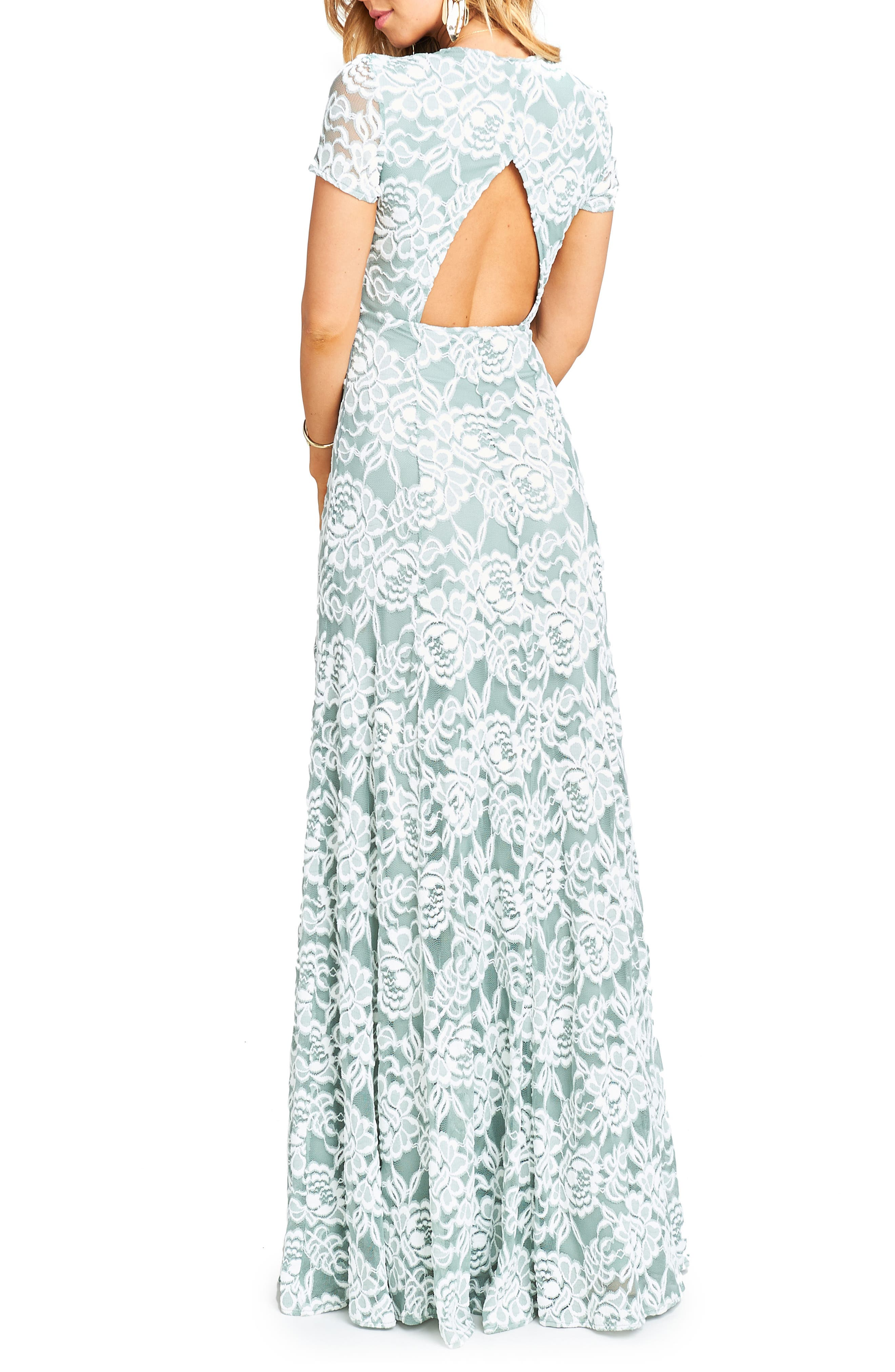 Eleanor Lace Gown,                             Alternate thumbnail 3, color,