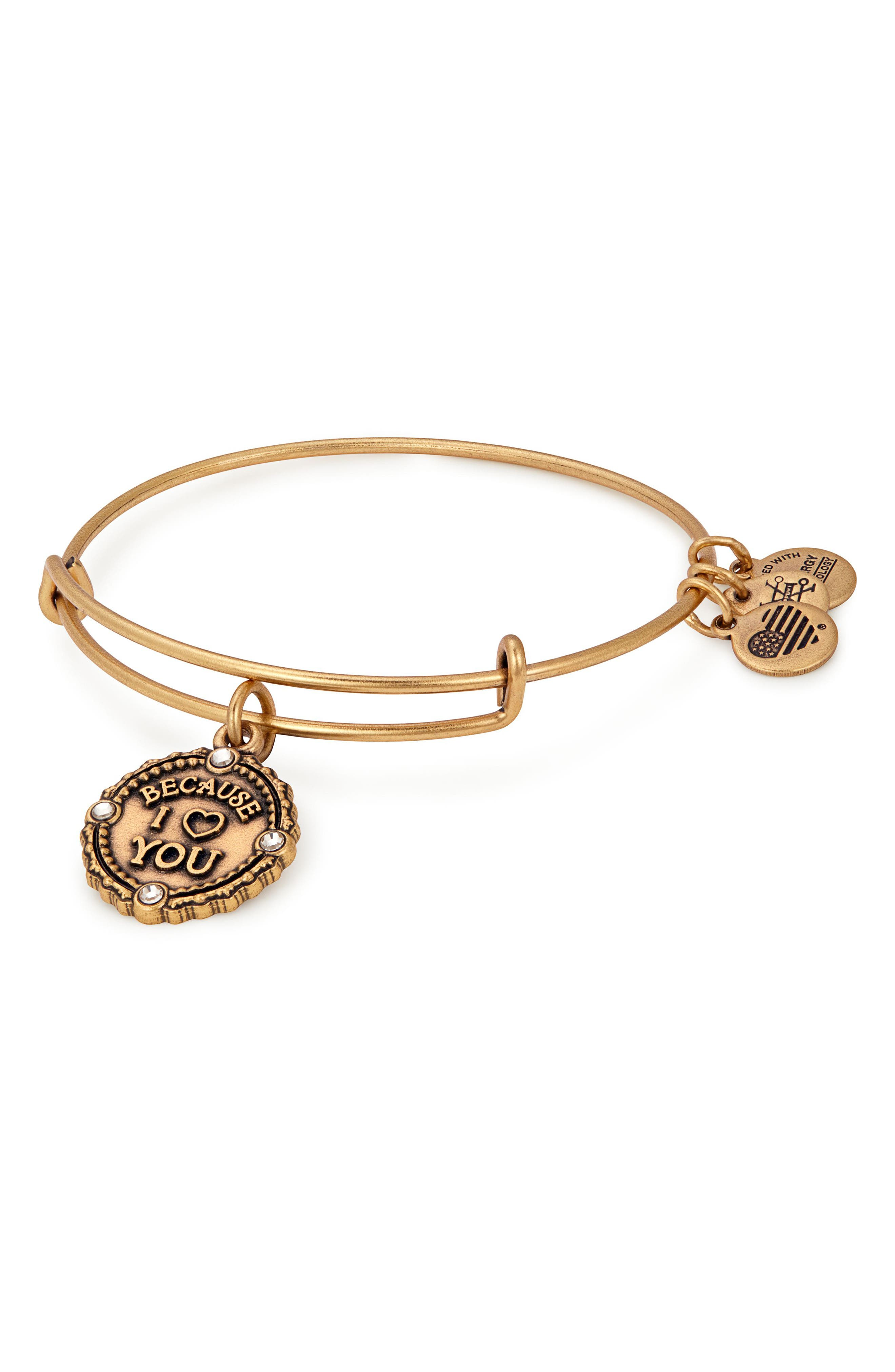 ALEX AND ANI Because I Love You Bracelet, Main, color, GOLD