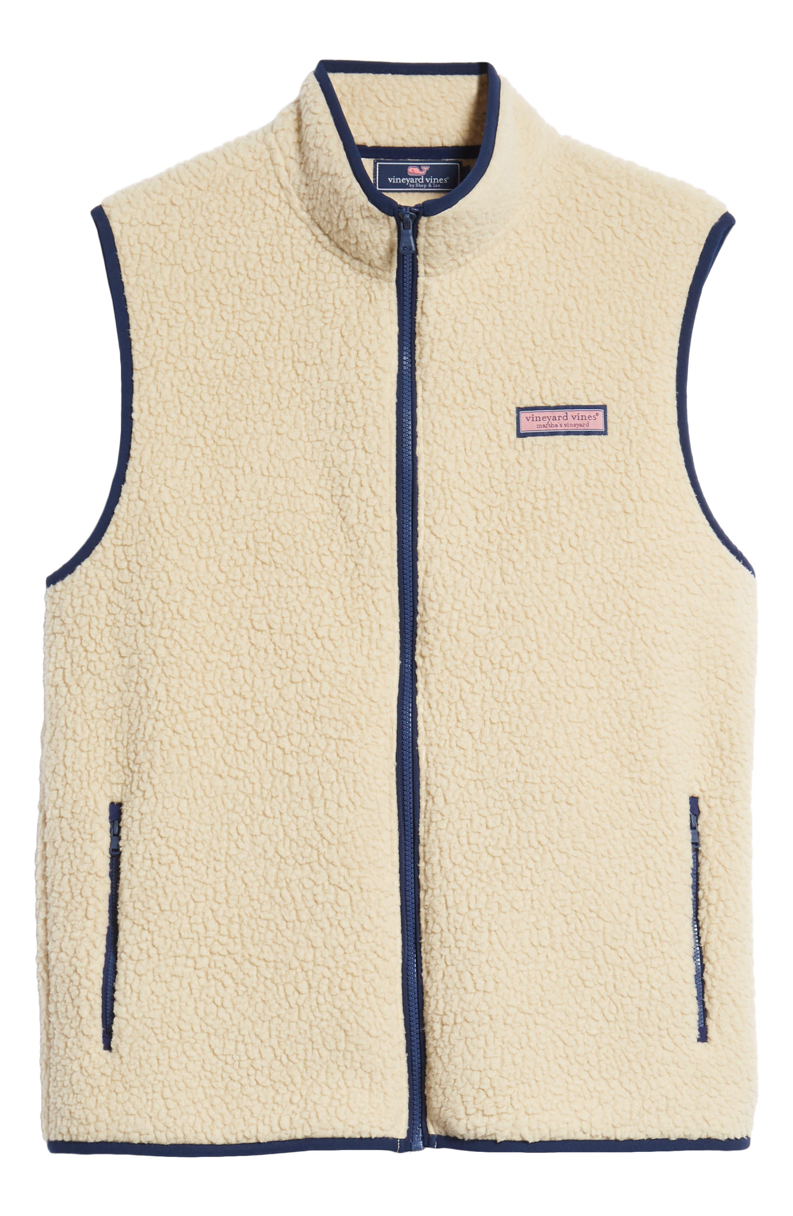 Harbor Regular Fit Fleece Vest,                             Alternate thumbnail 6, color,                             CAMEL
