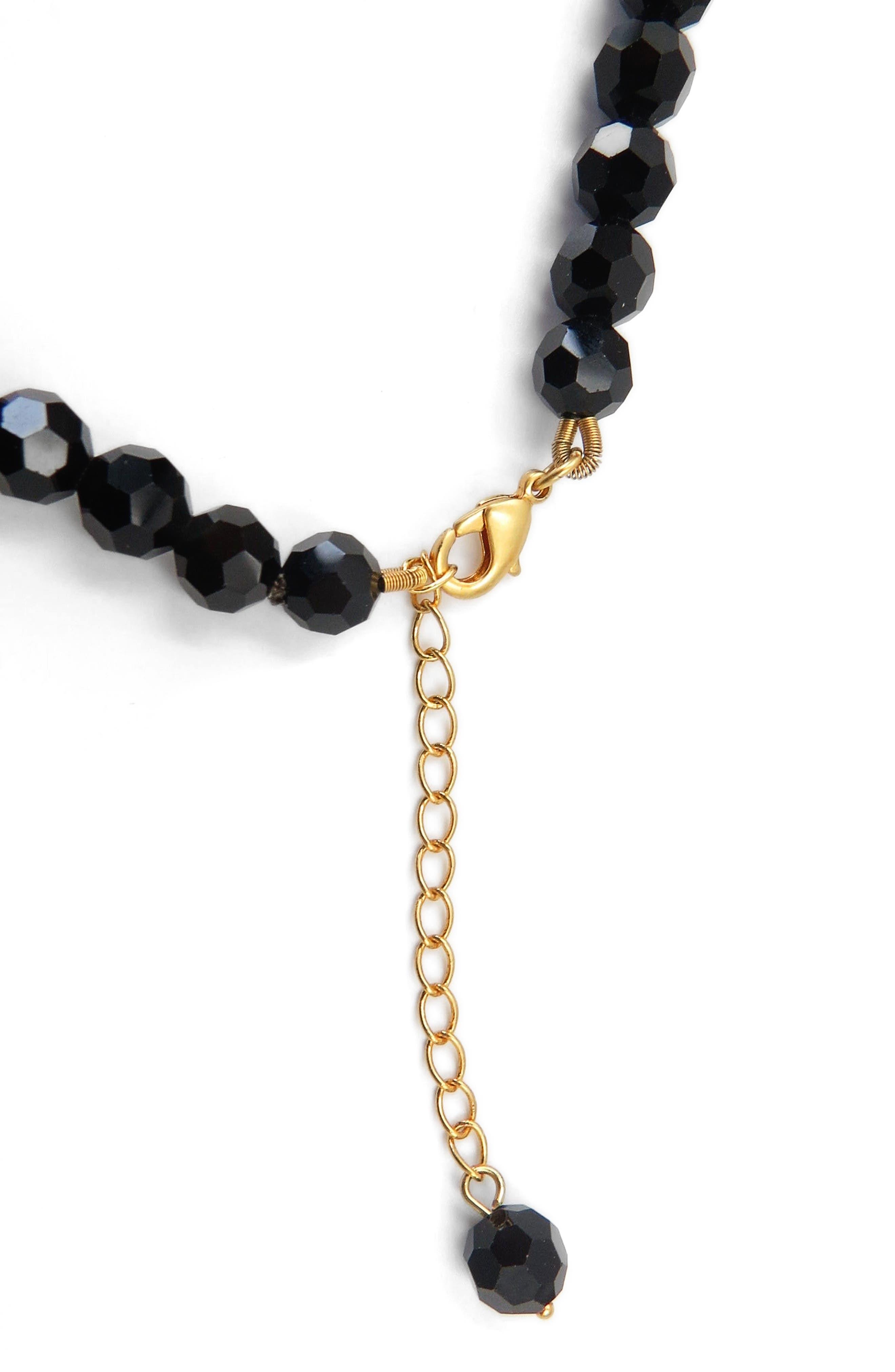 Tassel Beaded Necklace,                             Alternate thumbnail 2, color,
