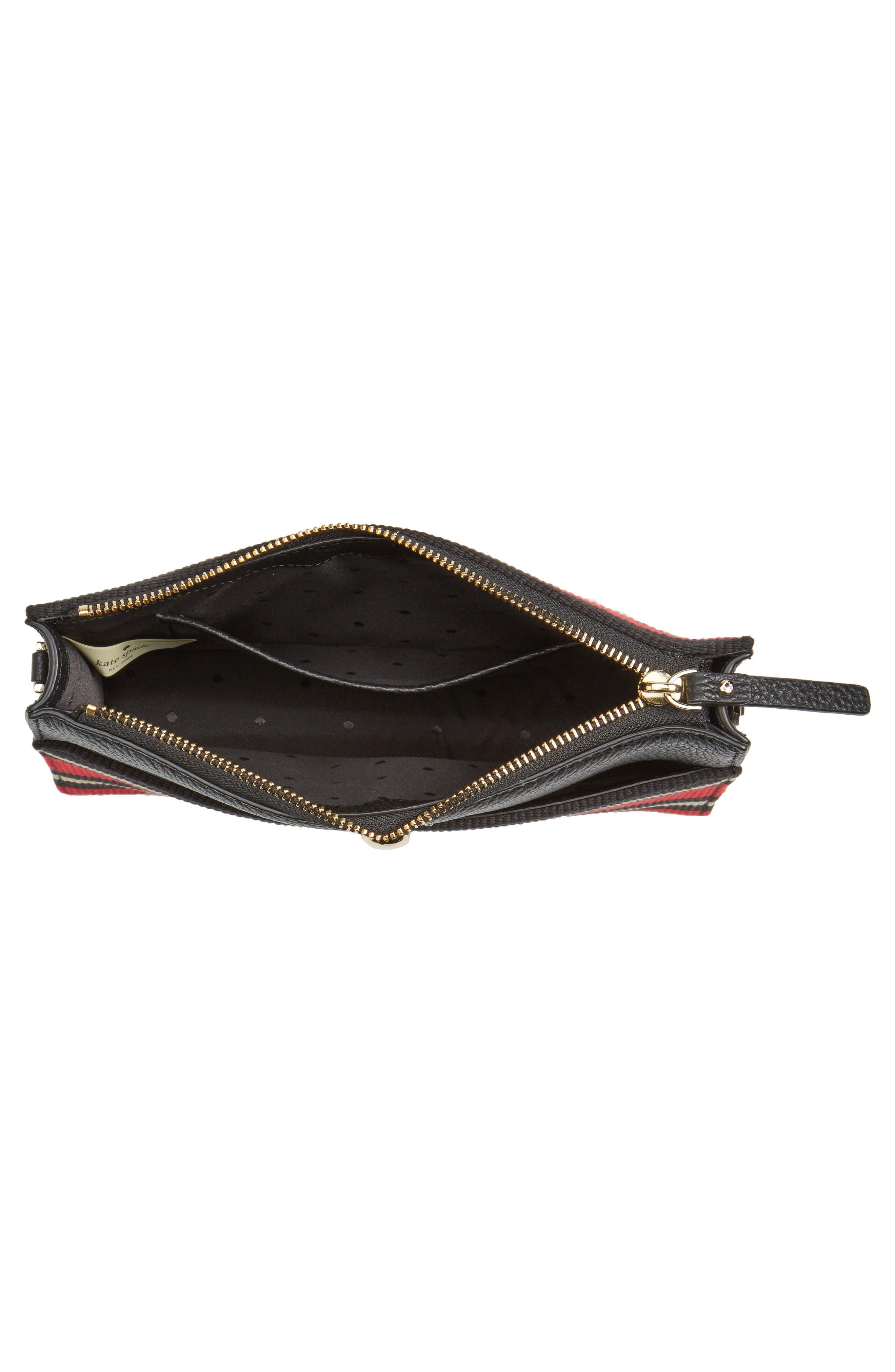 steward street clarise grosgrain stripe shoulder bag,                             Alternate thumbnail 4, color,                             600