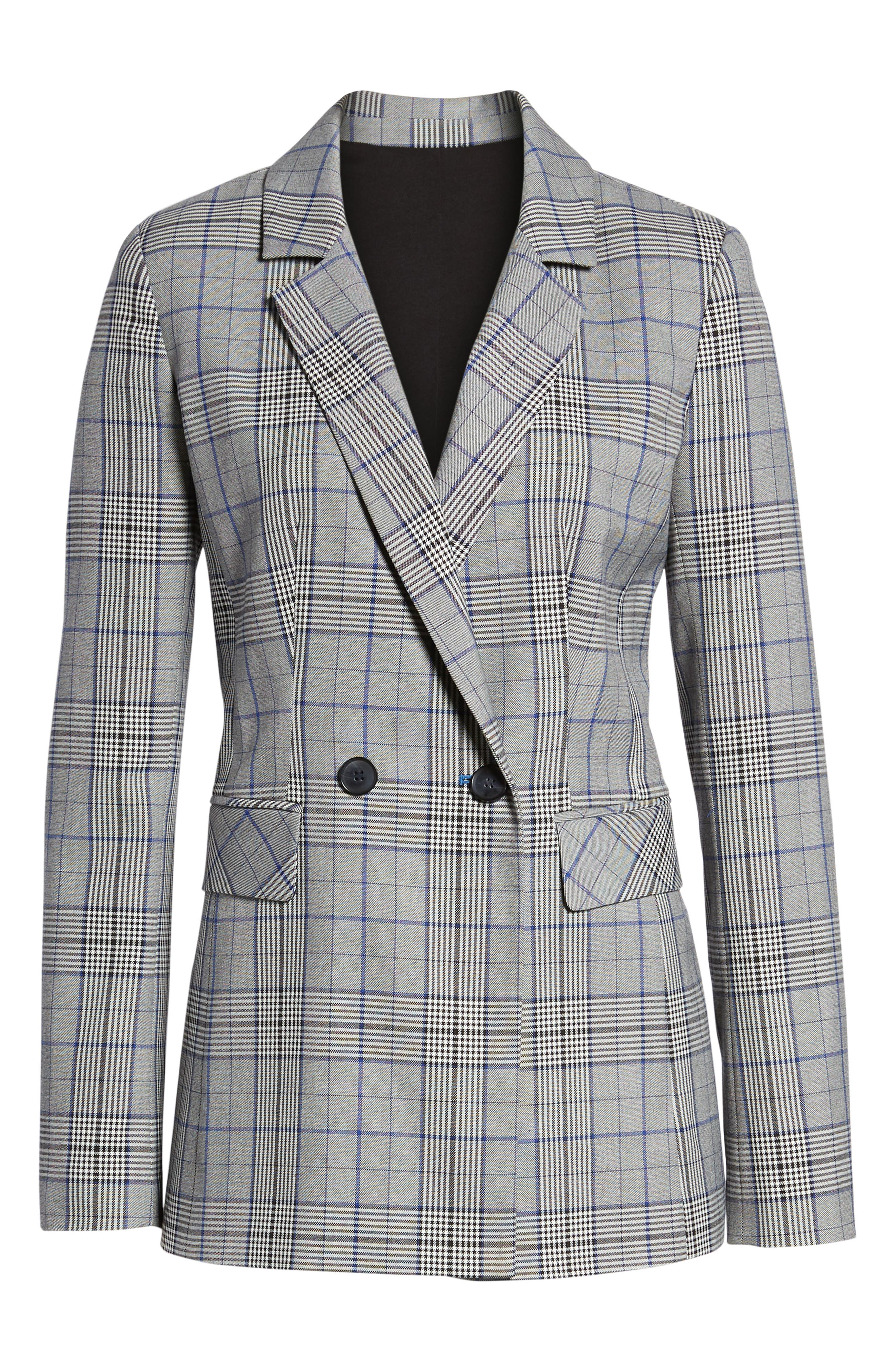 Double Breasted Blazer,                             Alternate thumbnail 6, color,                             001