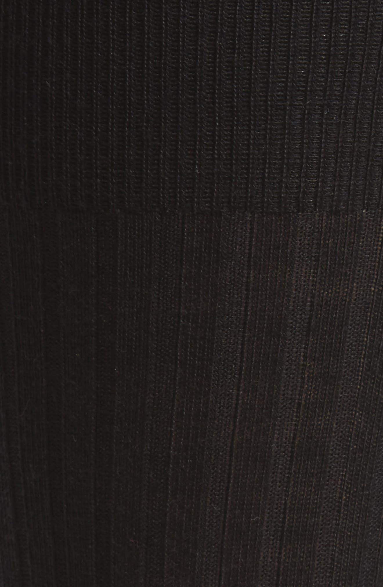 Ribbed Pima Cotton Crew Socks,                             Alternate thumbnail 2, color,                             BLACK