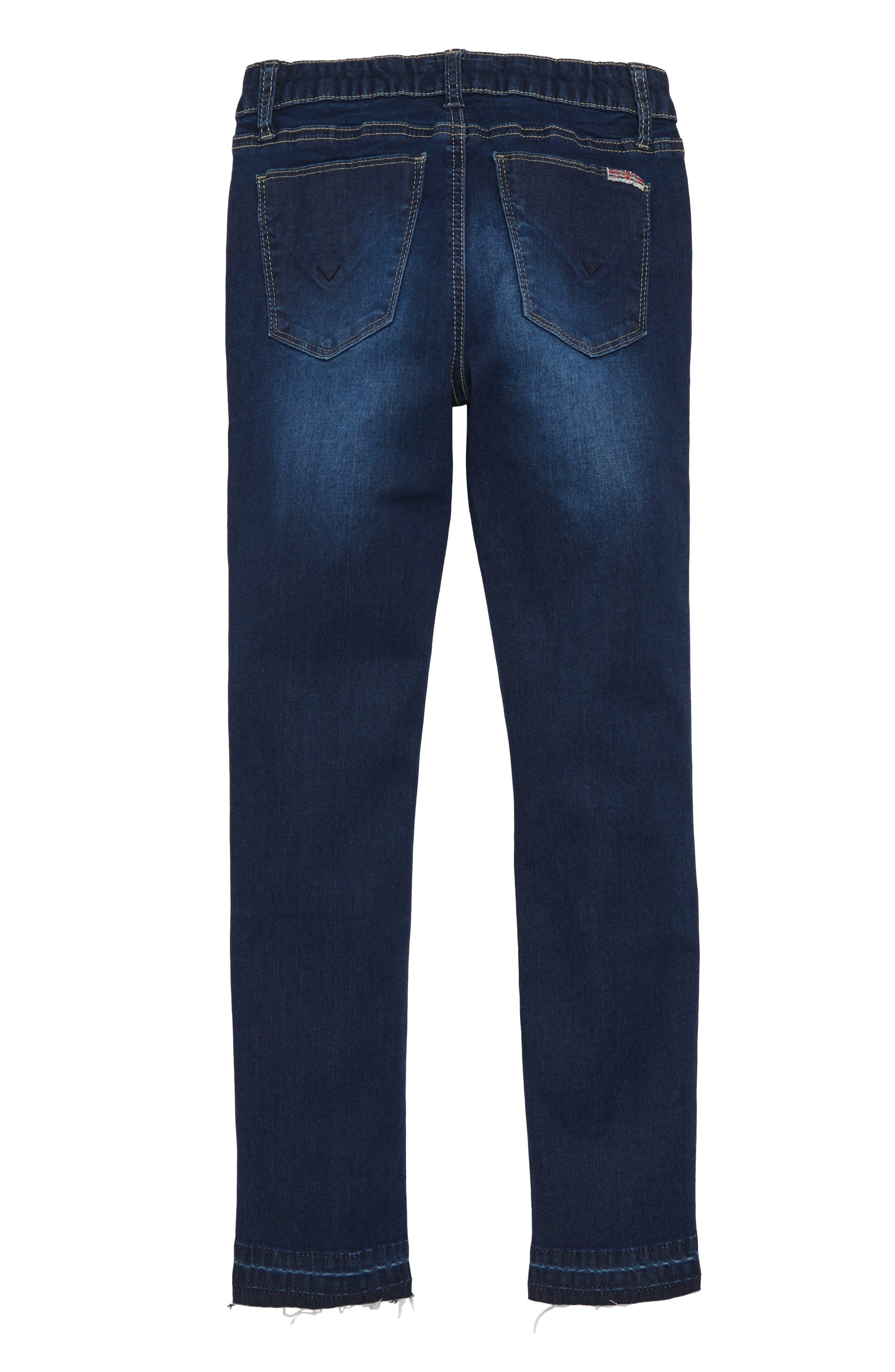 Christa Release Hem Skinny Jeans,                             Alternate thumbnail 2, color,                             GLEAM WASH