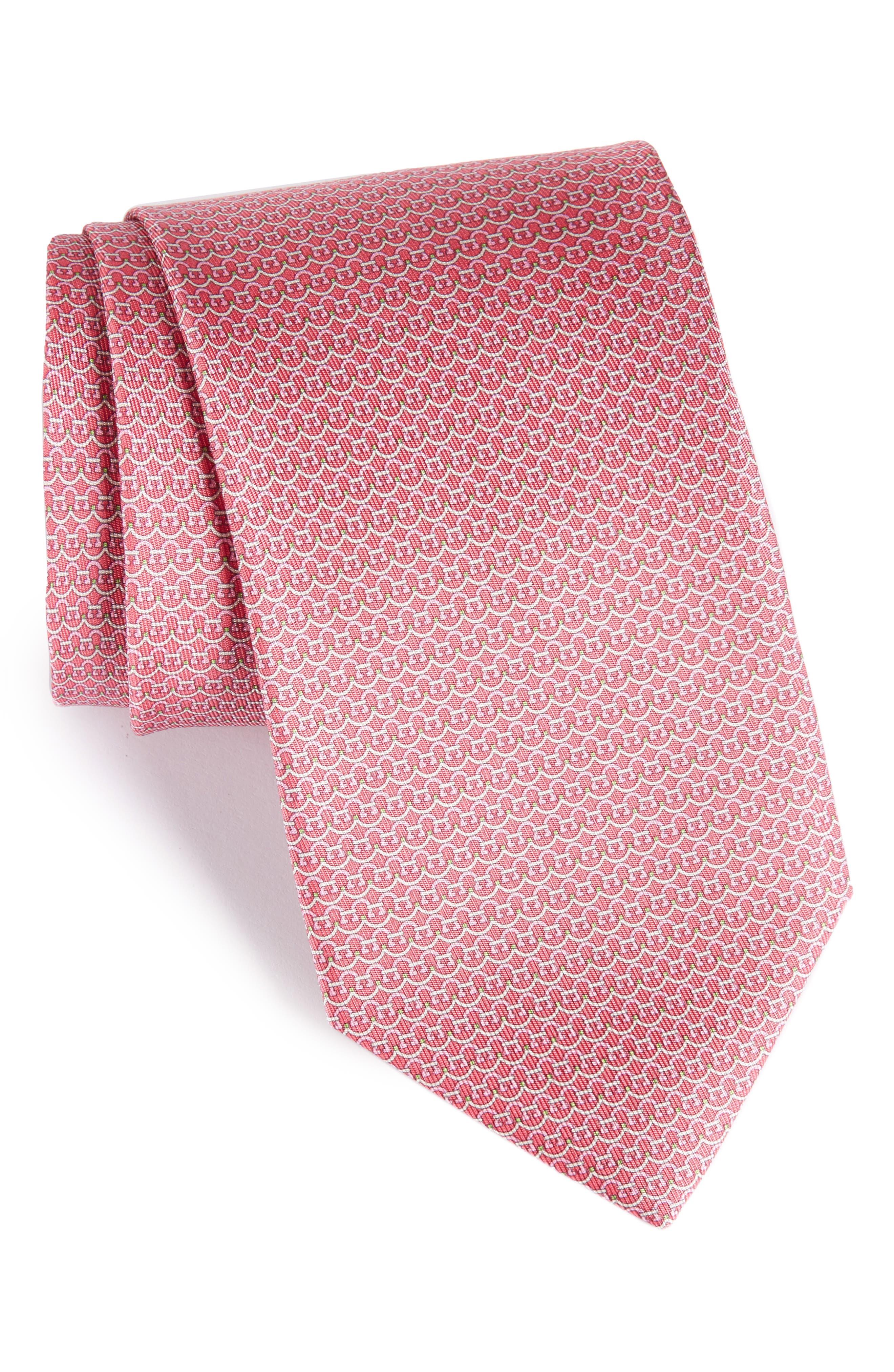 Gancini Silk Tie,                             Main thumbnail 4, color,