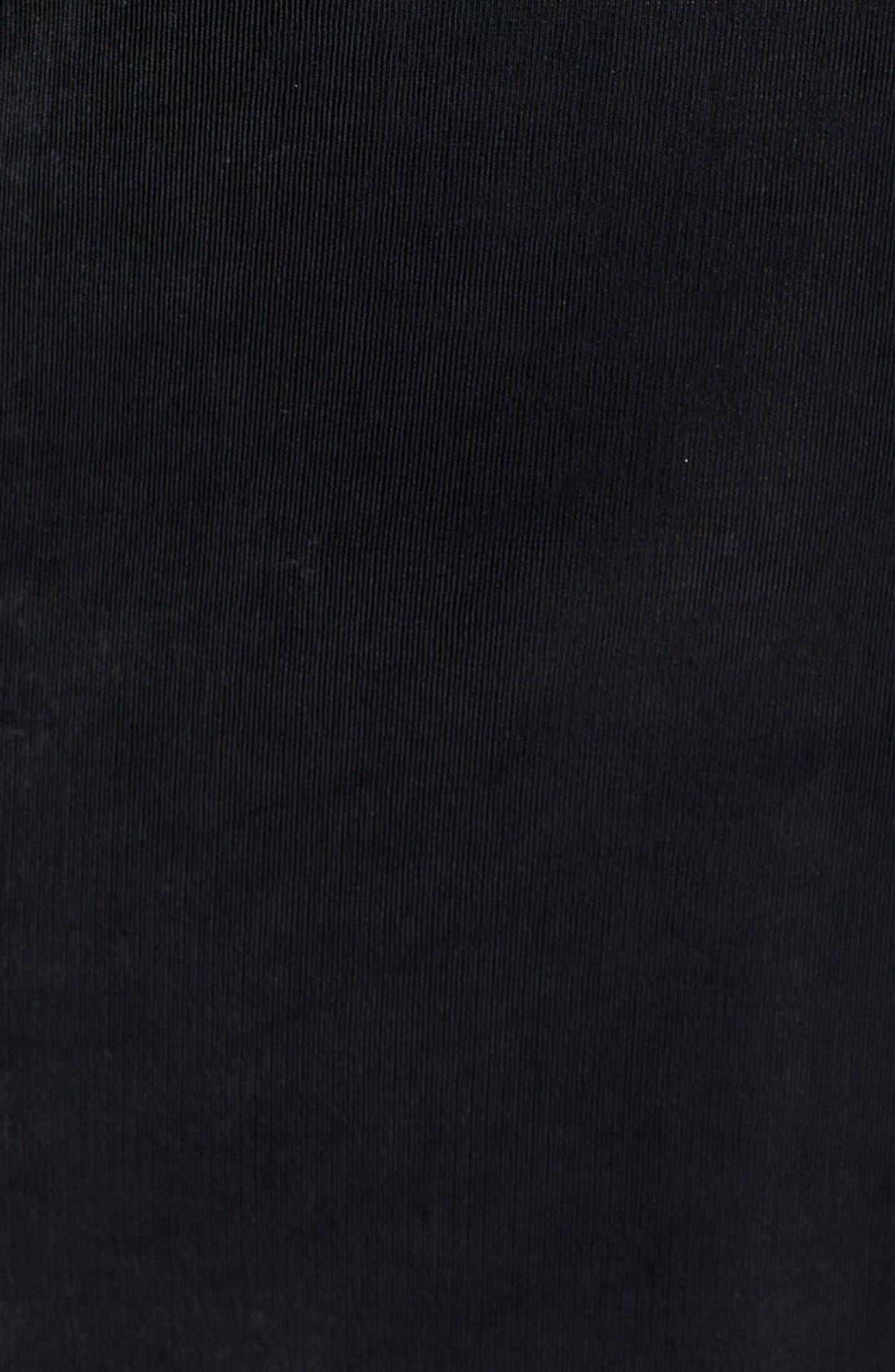 Three Quarter Sleeve Top,                             Alternate thumbnail 8, color,                             BLACK