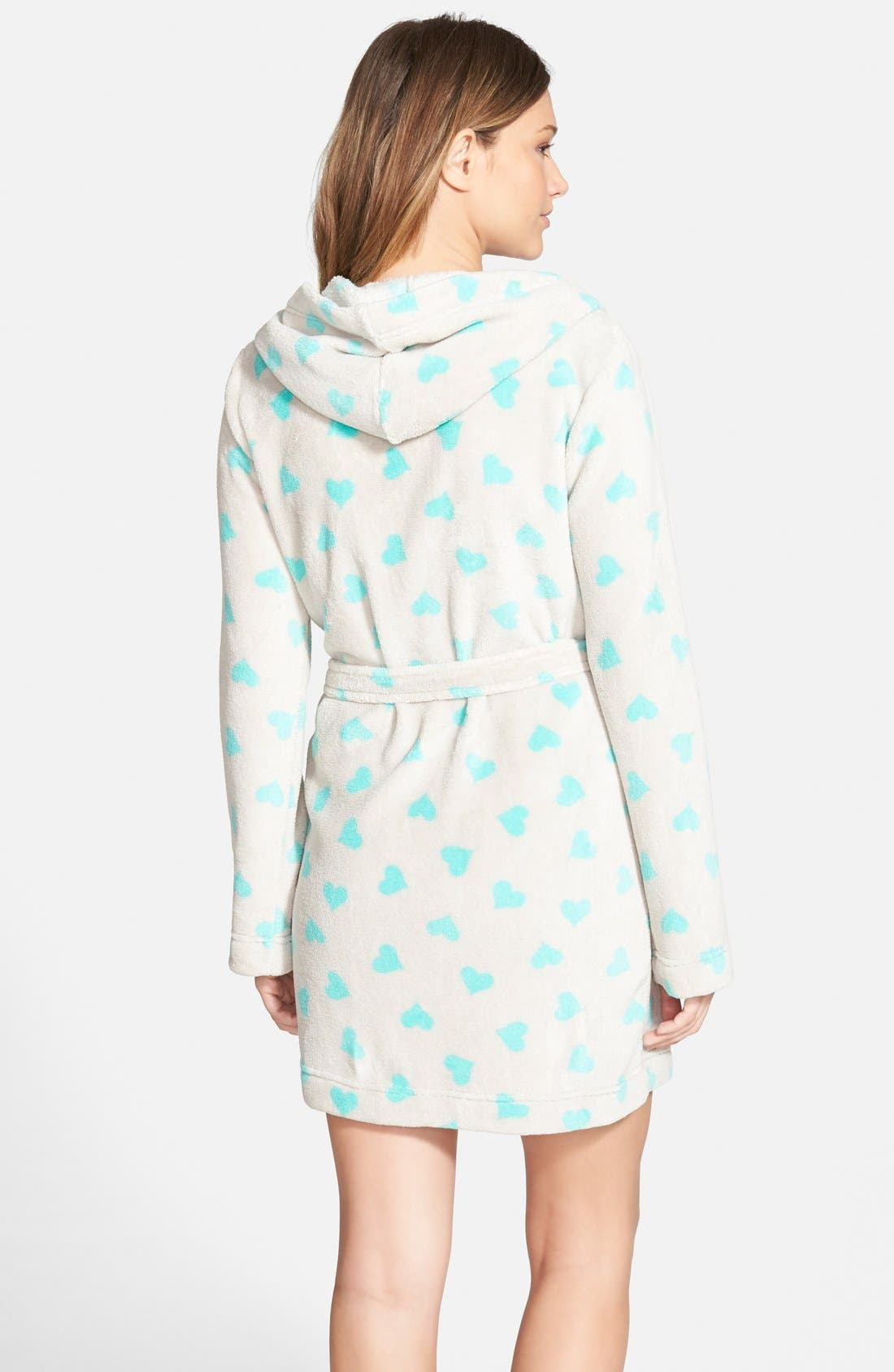 Hooded Plush Robe,                             Alternate thumbnail 3, color,                             050