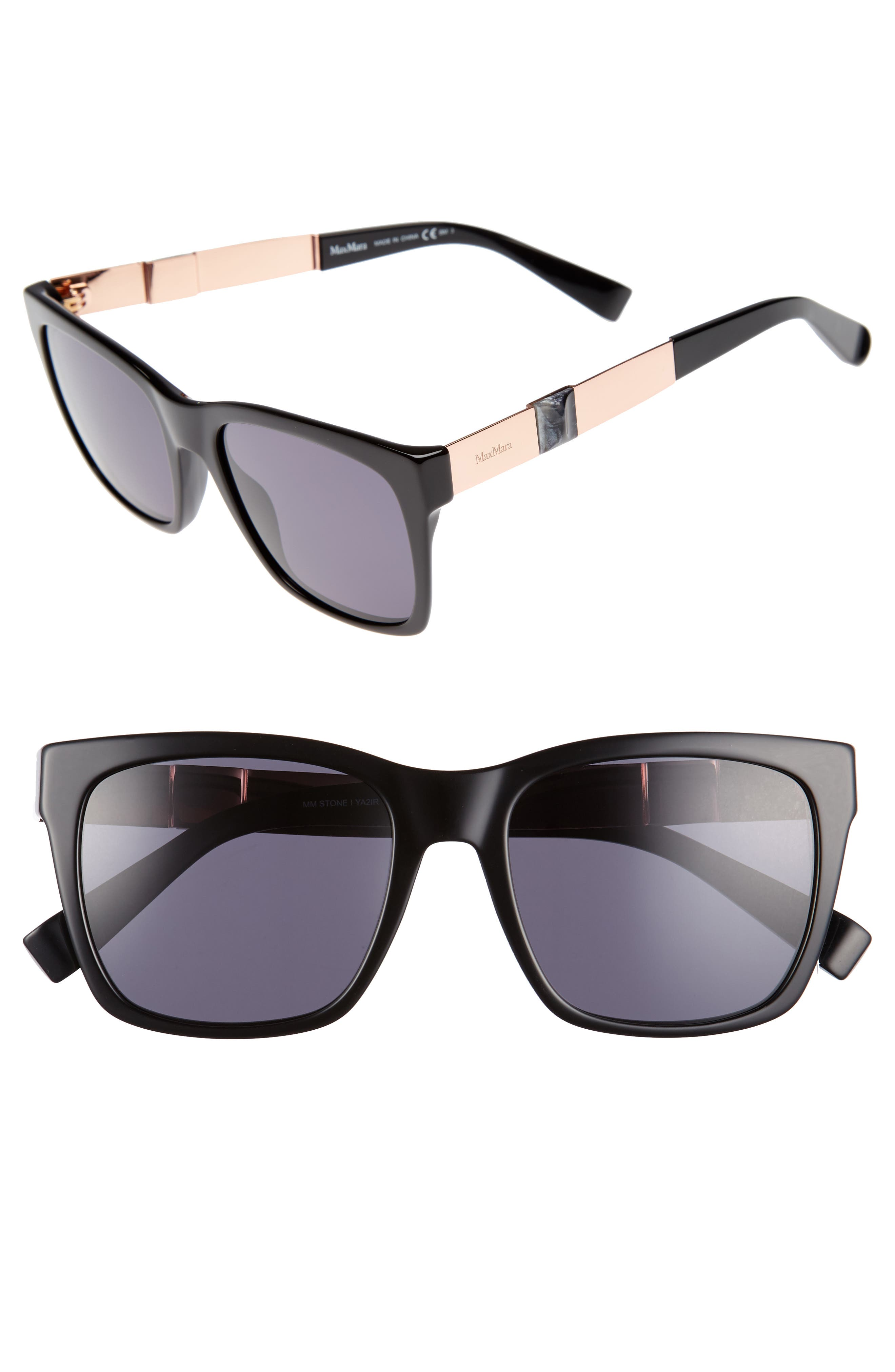 Stone 54mm Gradient Sunglasses,                             Main thumbnail 1, color,                             001