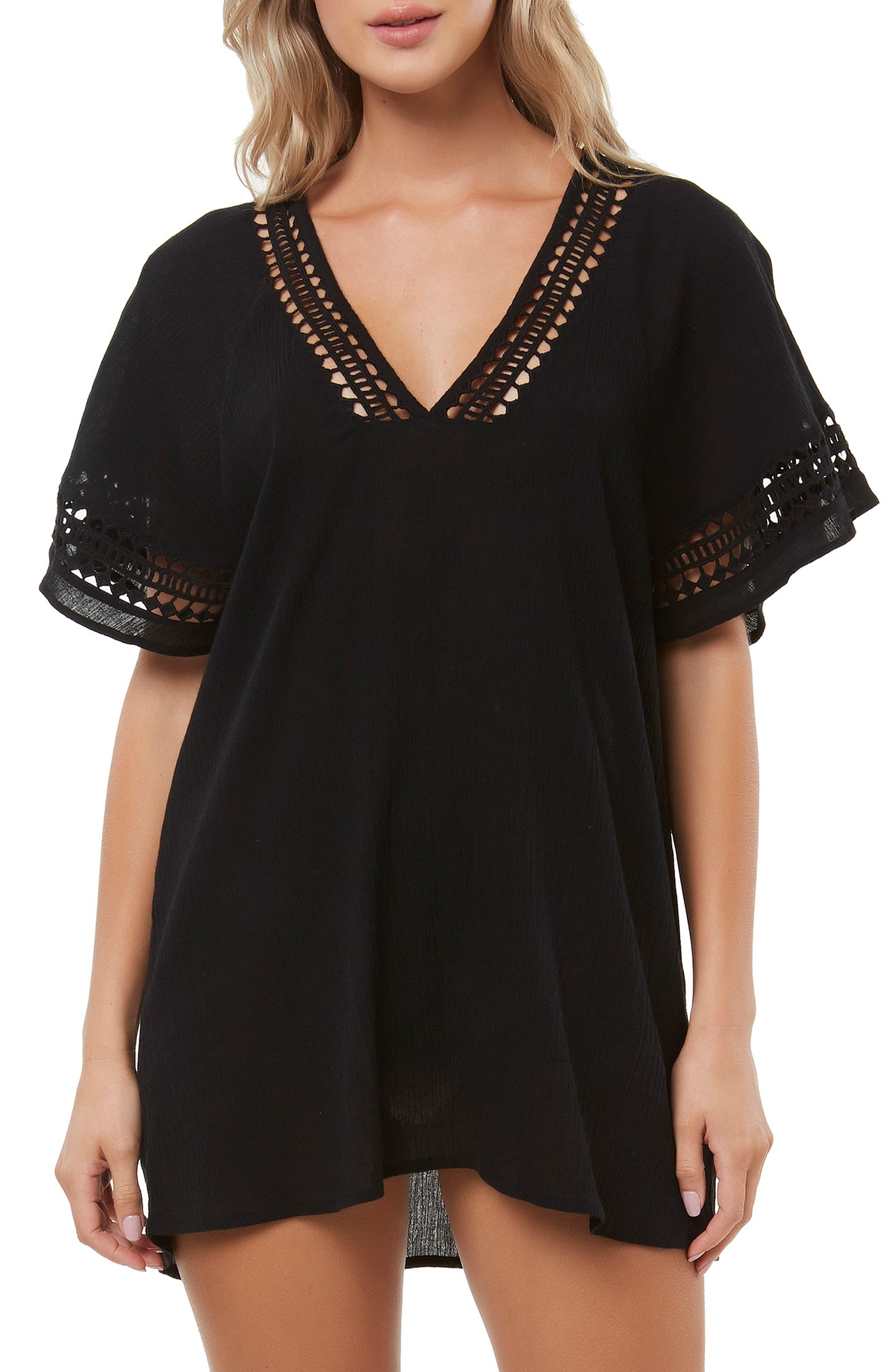 Celeste Cover-Up Dress,                         Main,                         color, BLACK