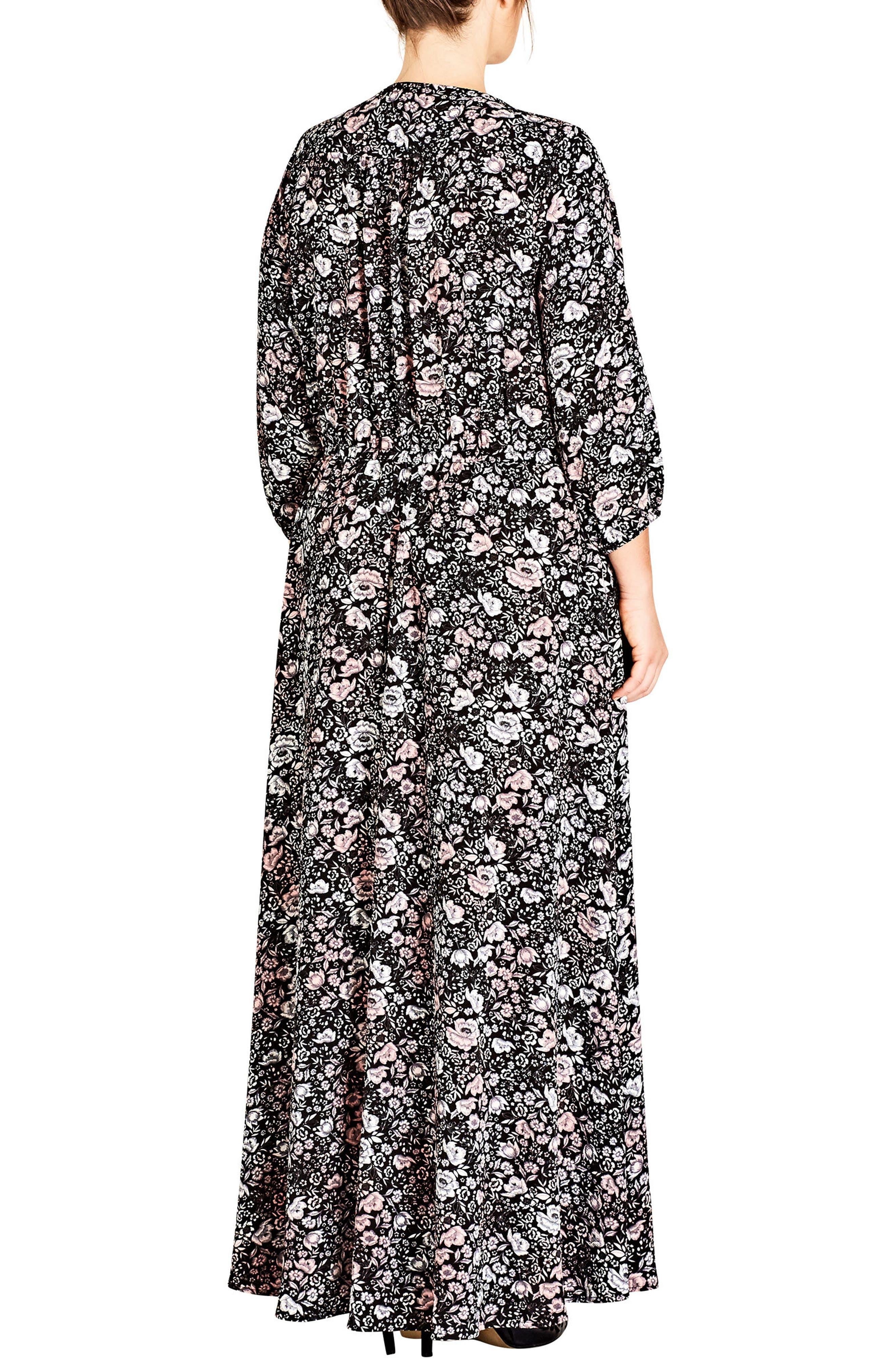 Etched Floral Maxi Dress,                             Alternate thumbnail 2, color,