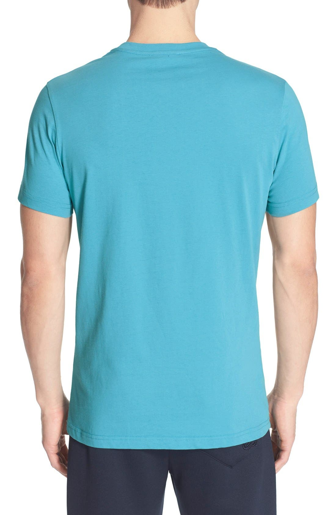 VERSACE JEANS,                             Diamond Print T-Shirt,                             Alternate thumbnail 2, color,                             440
