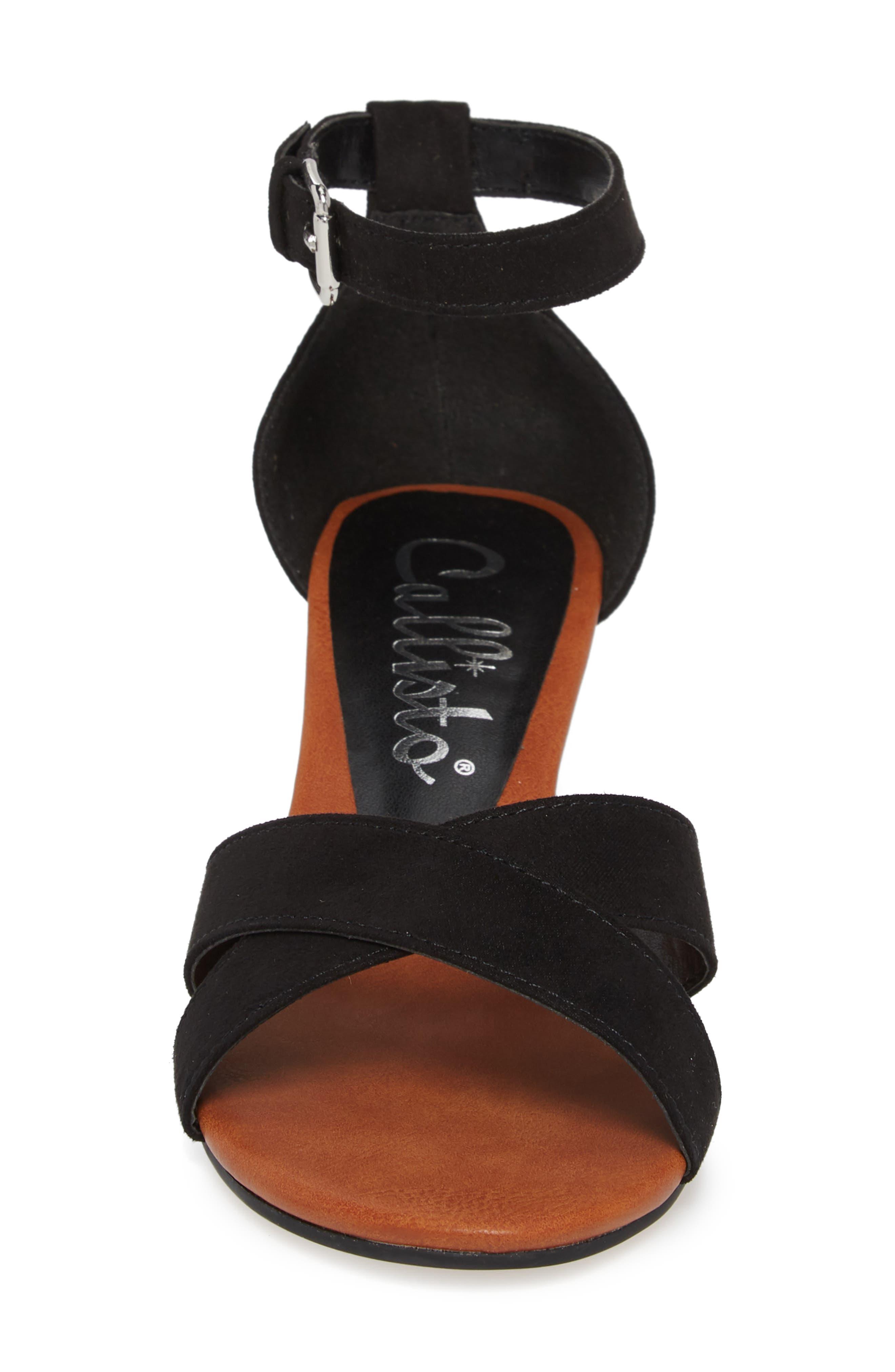 Strobe Wedge Sandal,                             Alternate thumbnail 4, color,                             003