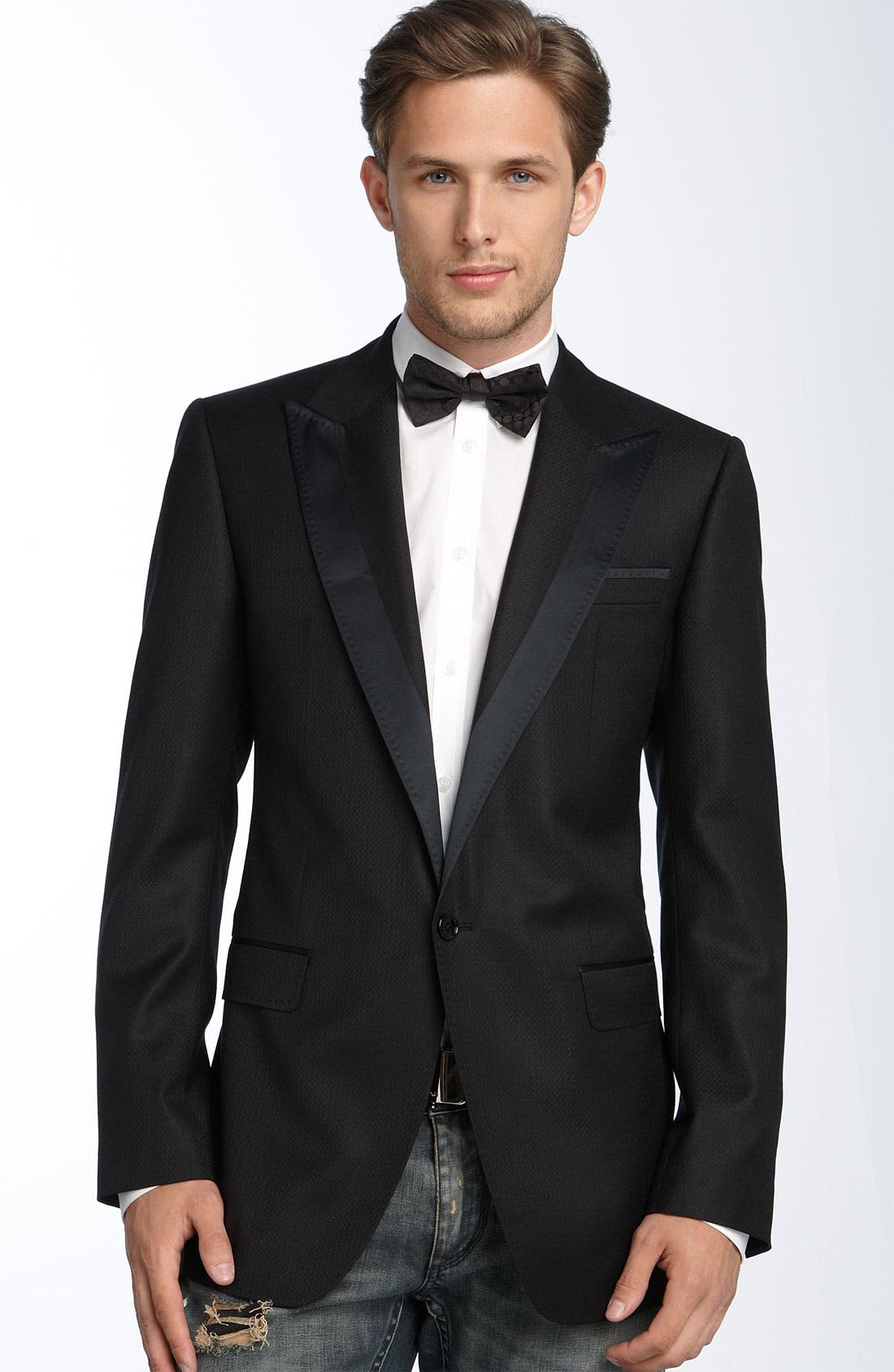 Textured Tuxedo Jacket,                             Main thumbnail 1, color,                             001