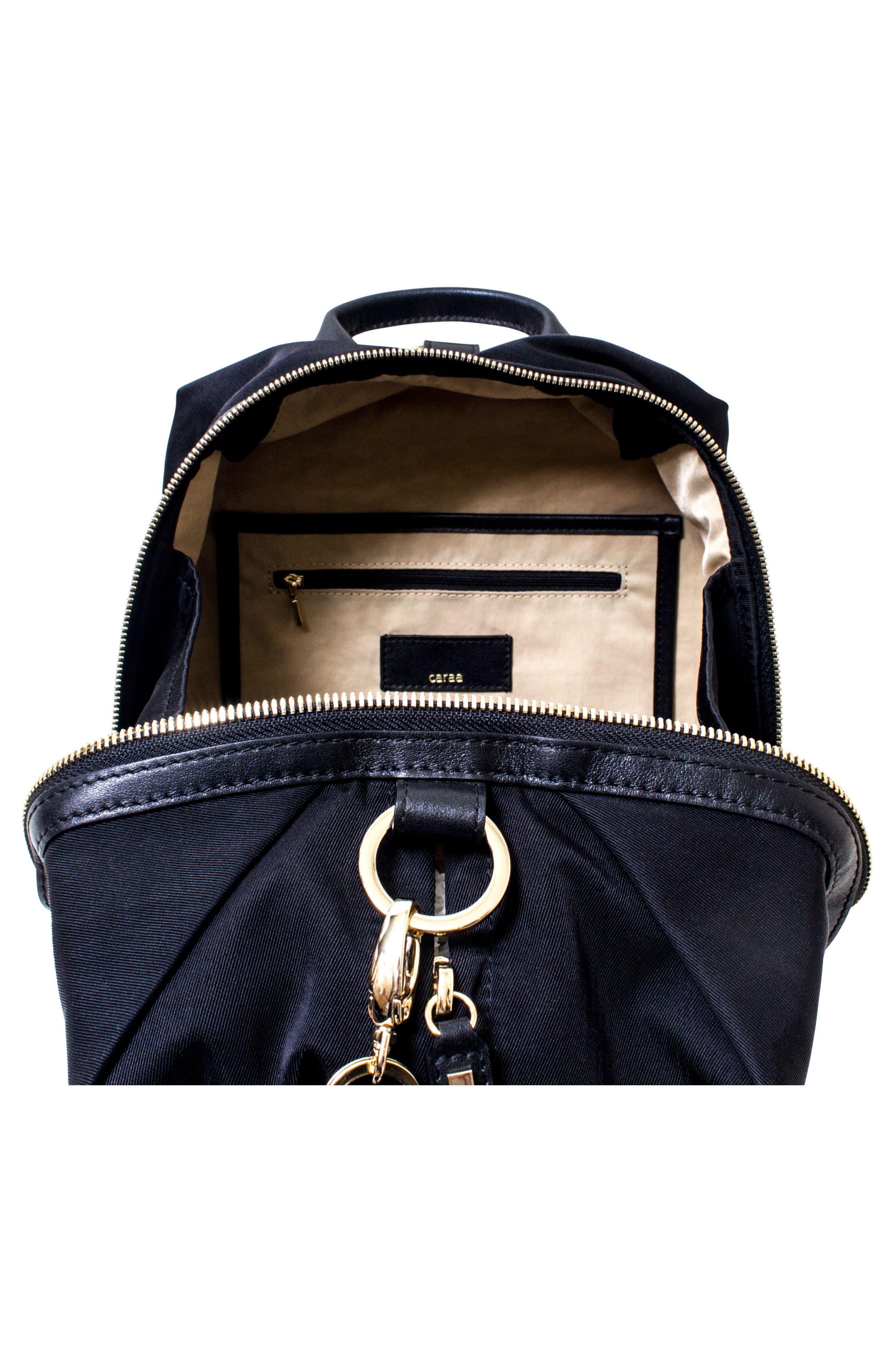 Studio Duffel Backpack,                             Alternate thumbnail 4, color,                             BLACK/ GOLD