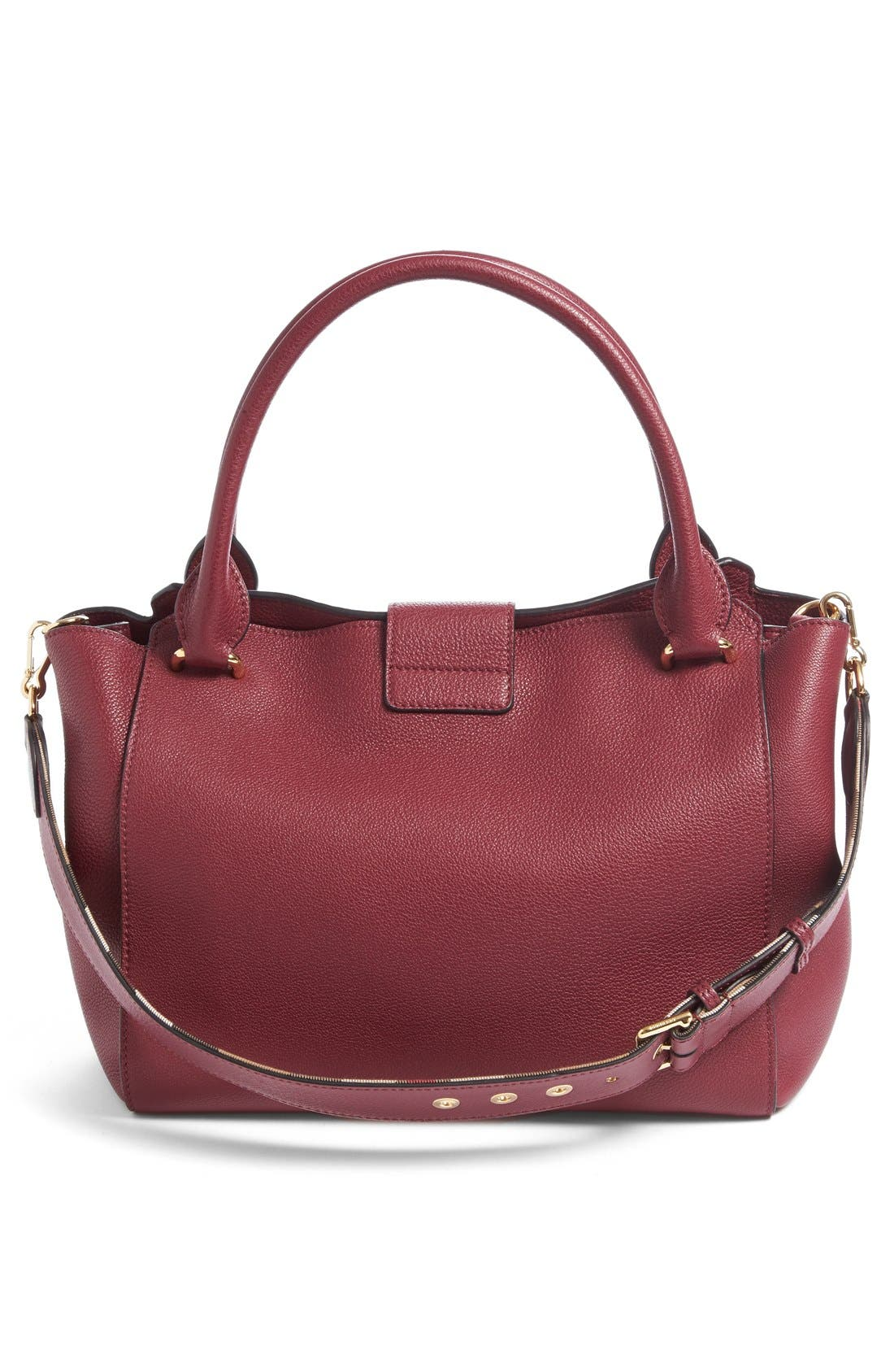 Medium Buckle Leather Satchel,                             Alternate thumbnail 31, color,