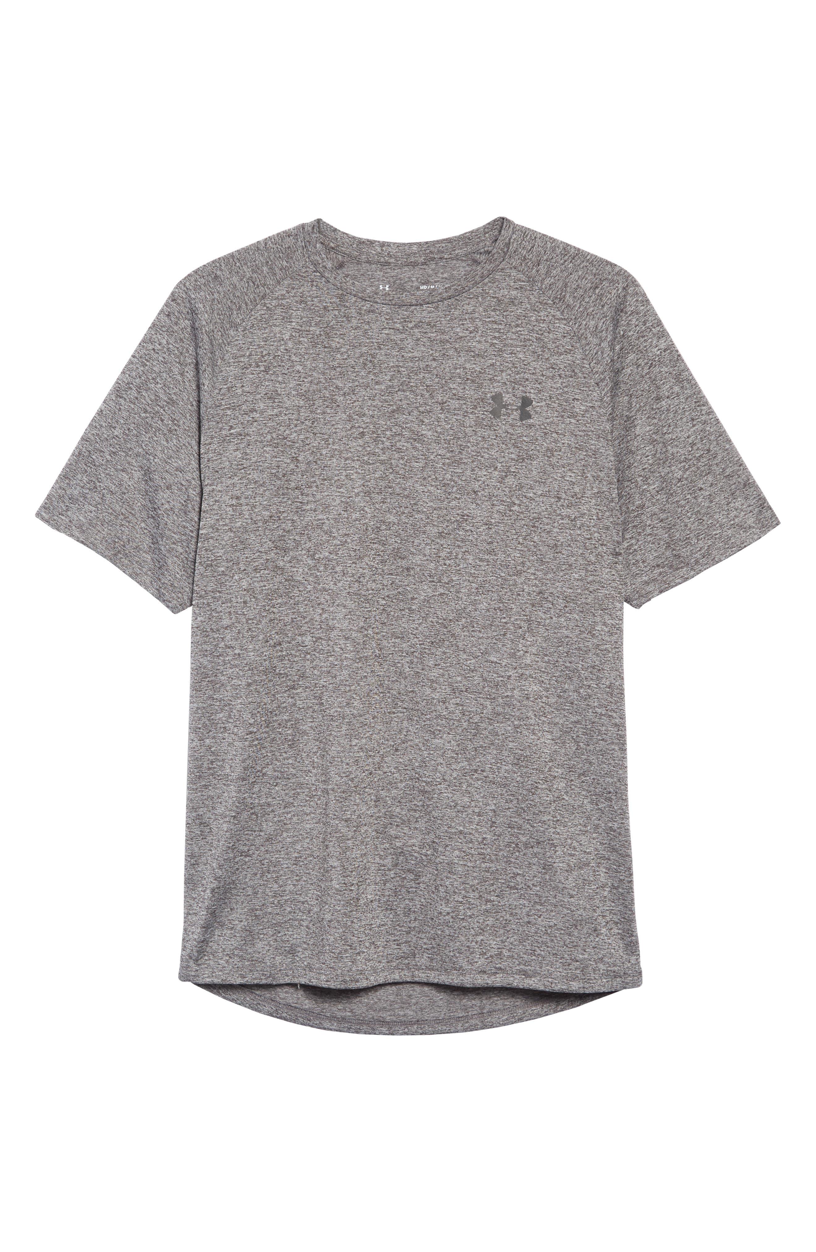 UA Tech<sup>™</sup> T-Shirt,                             Alternate thumbnail 6, color,                             CHARCOAL LIGHT HEATHER