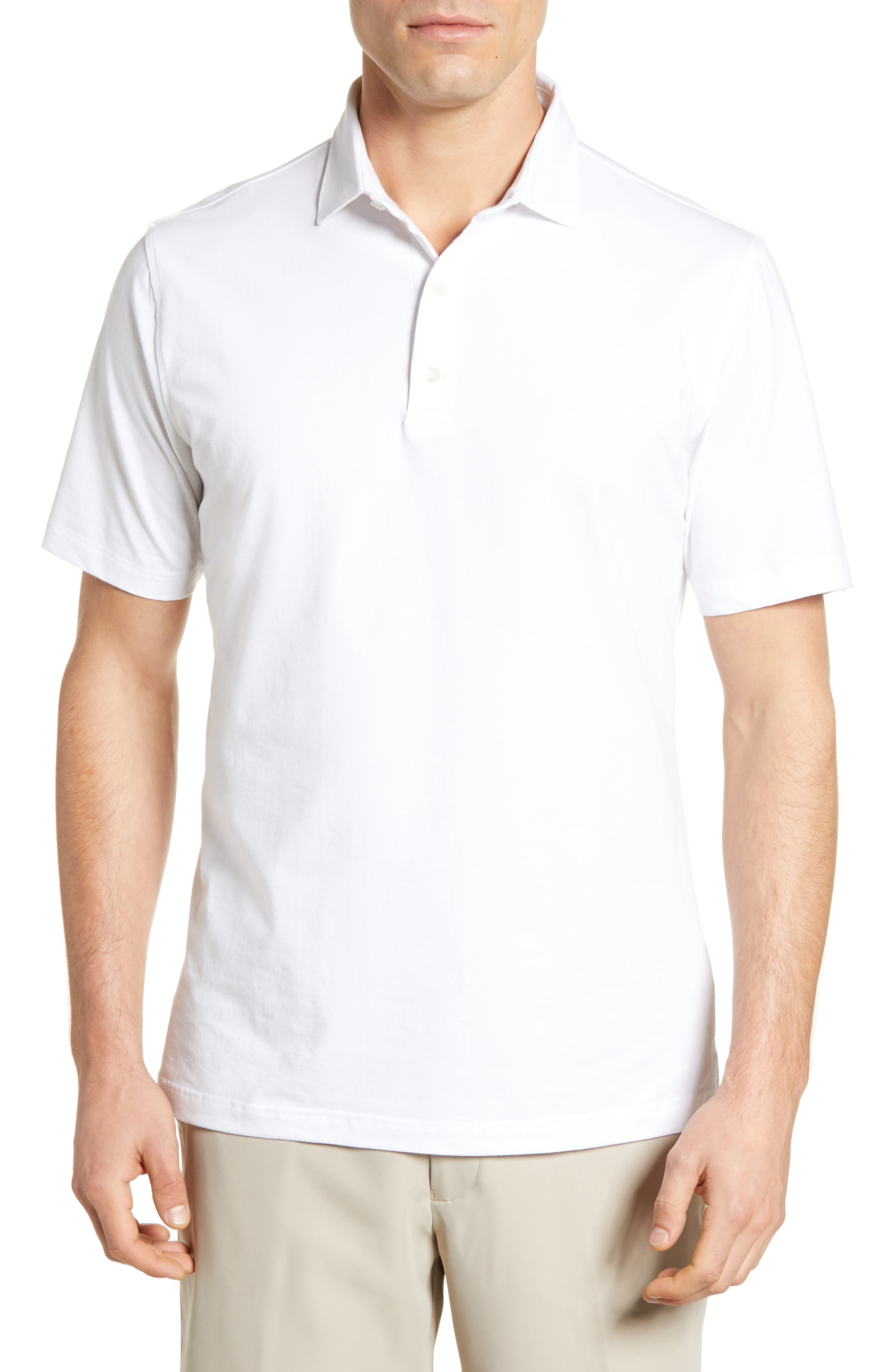JOHNNIE-O Giggs Regular Fit Stretch Cotton Polo in White