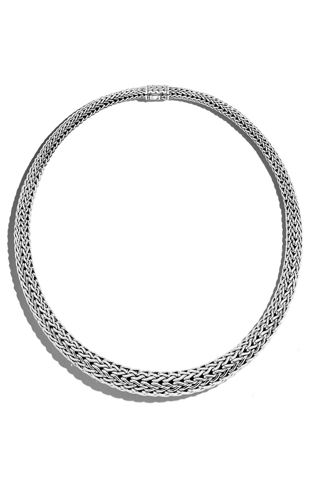 Classic Chain Graduated Necklace,                             Main thumbnail 1, color,                             SILVER