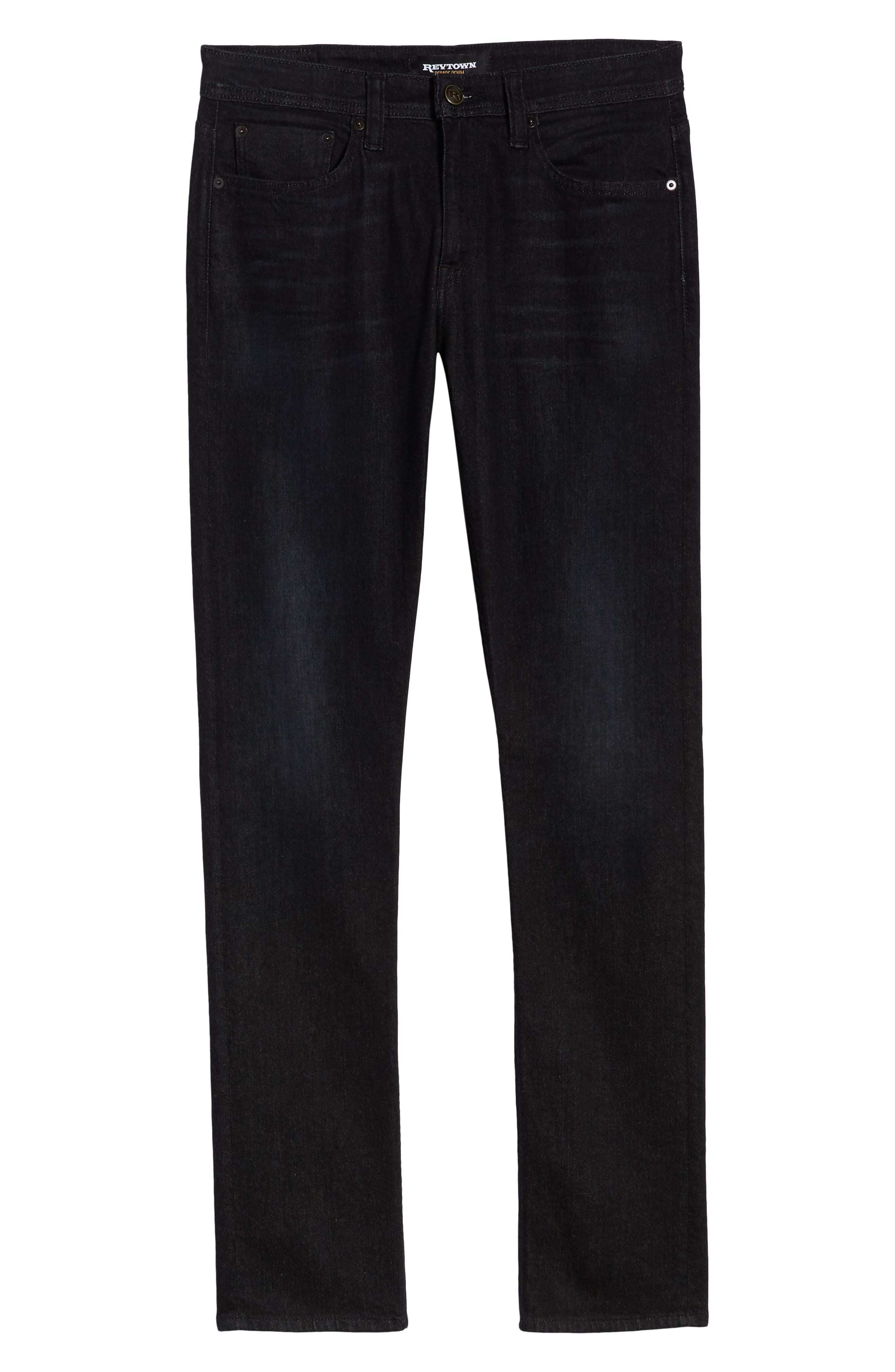 REVTOWN,                             Sharp Slim Fit Jeans,                             Alternate thumbnail 6, color,                             COAL BLACK